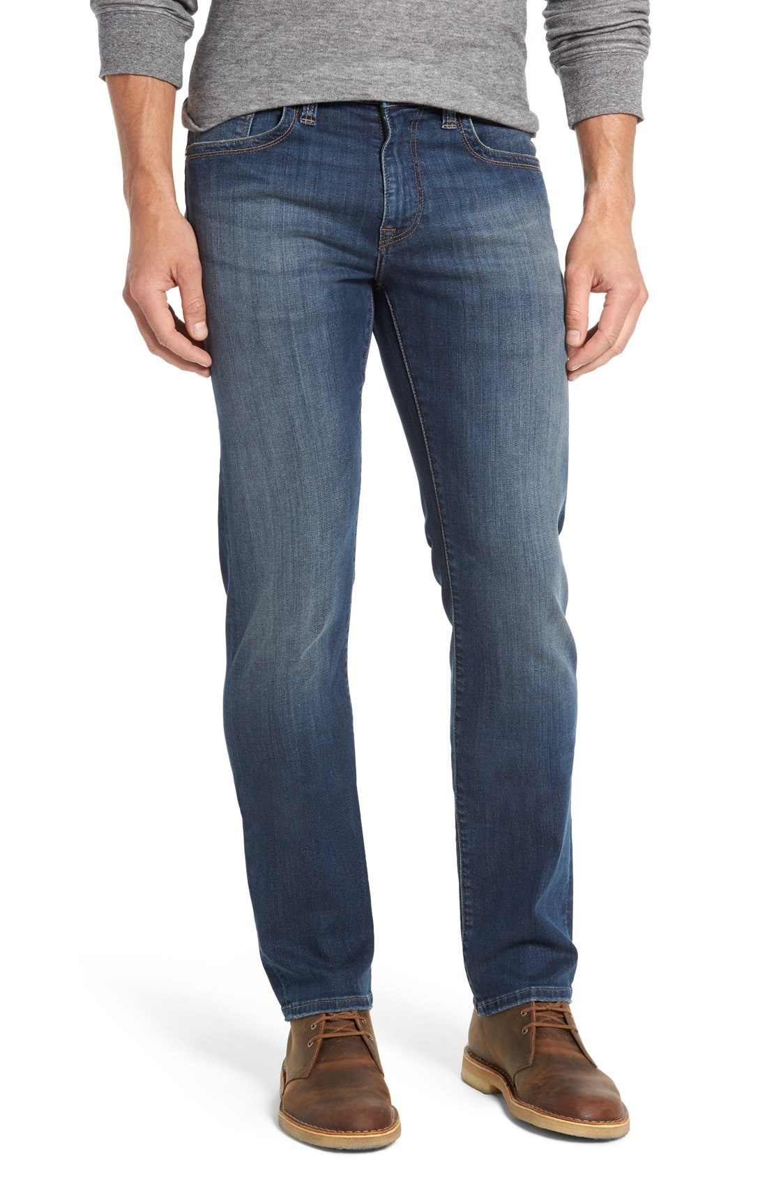 34 Heritage Courage Straight Leg Jeans (Mid Vintage) (Online Only) (Regular & Tall)