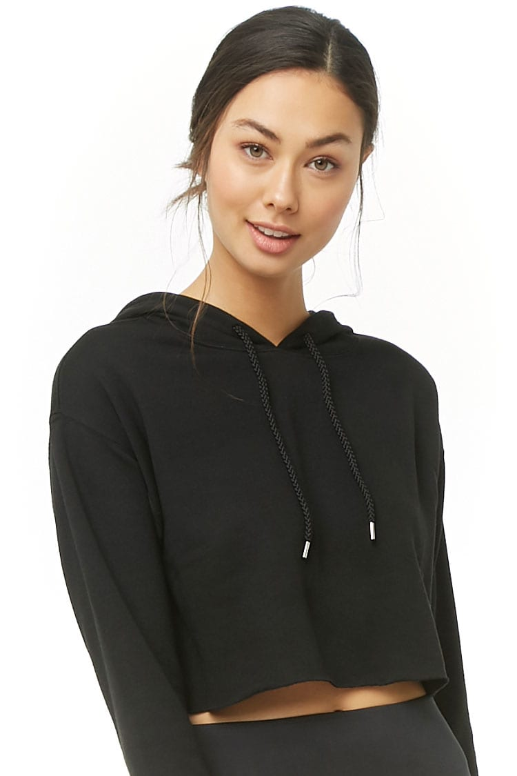 F21 Active Cropped Hoodie