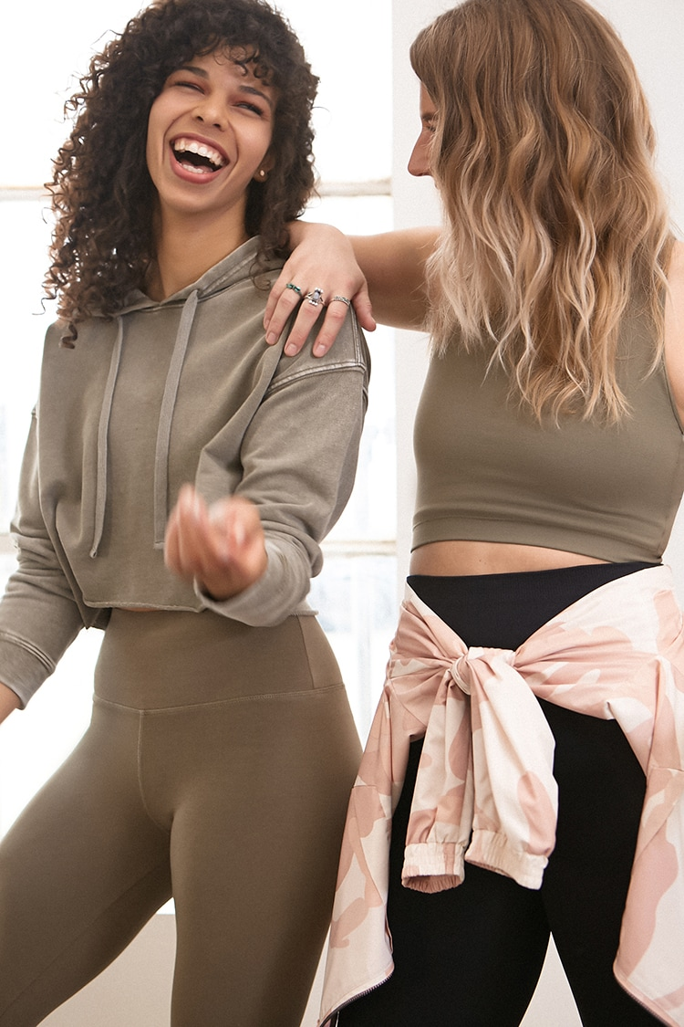F21 Active French Terry Hoodie