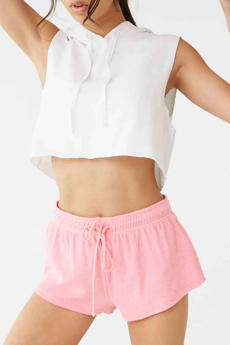 F21 Active Neon Terrycloth Shorts