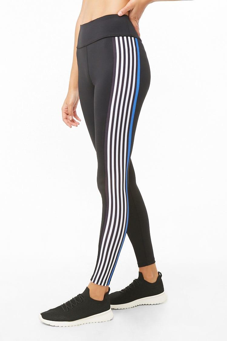 F21 Active Striped Leggings