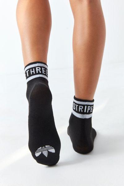 adidas Originals 3-Stripe Fold-Over Quarter Sock