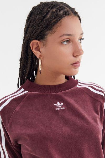 adidas Velvet Crew-Neck Sweatshirt