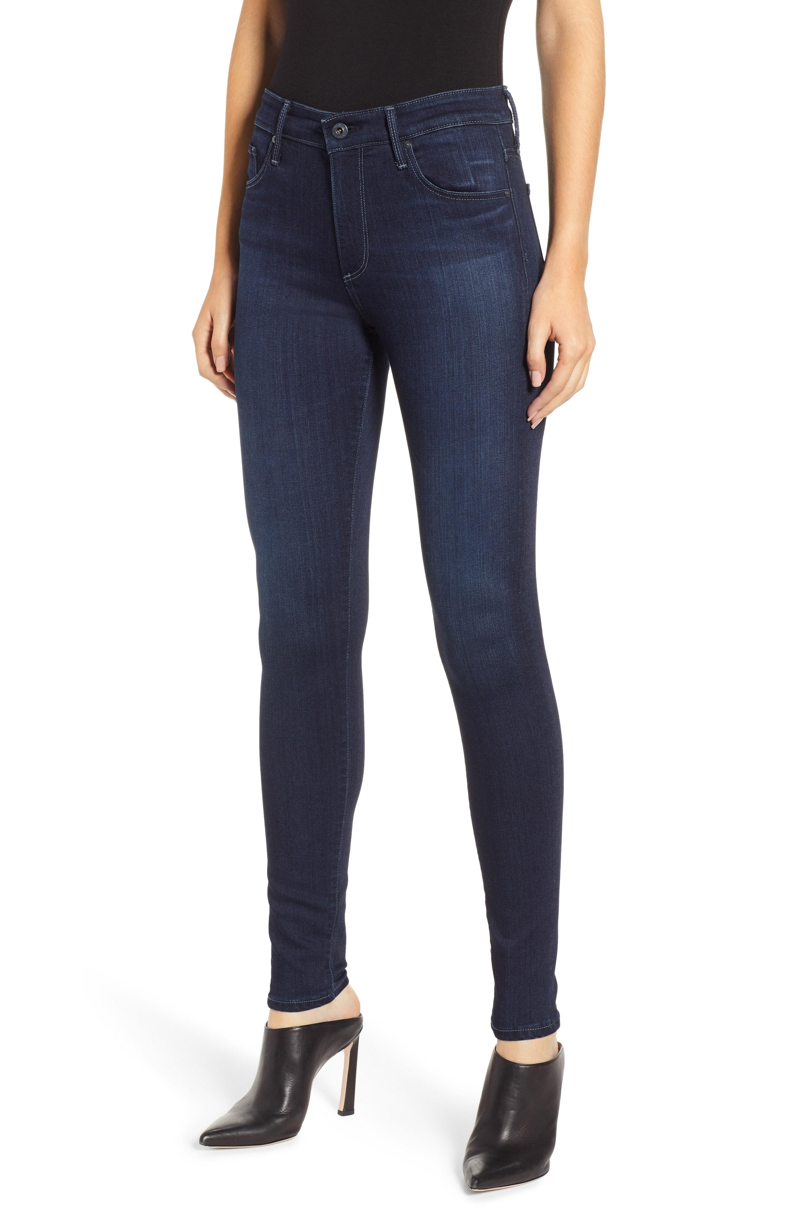 AG Farrah High Waist Skinny Jeans (Blue Basin)