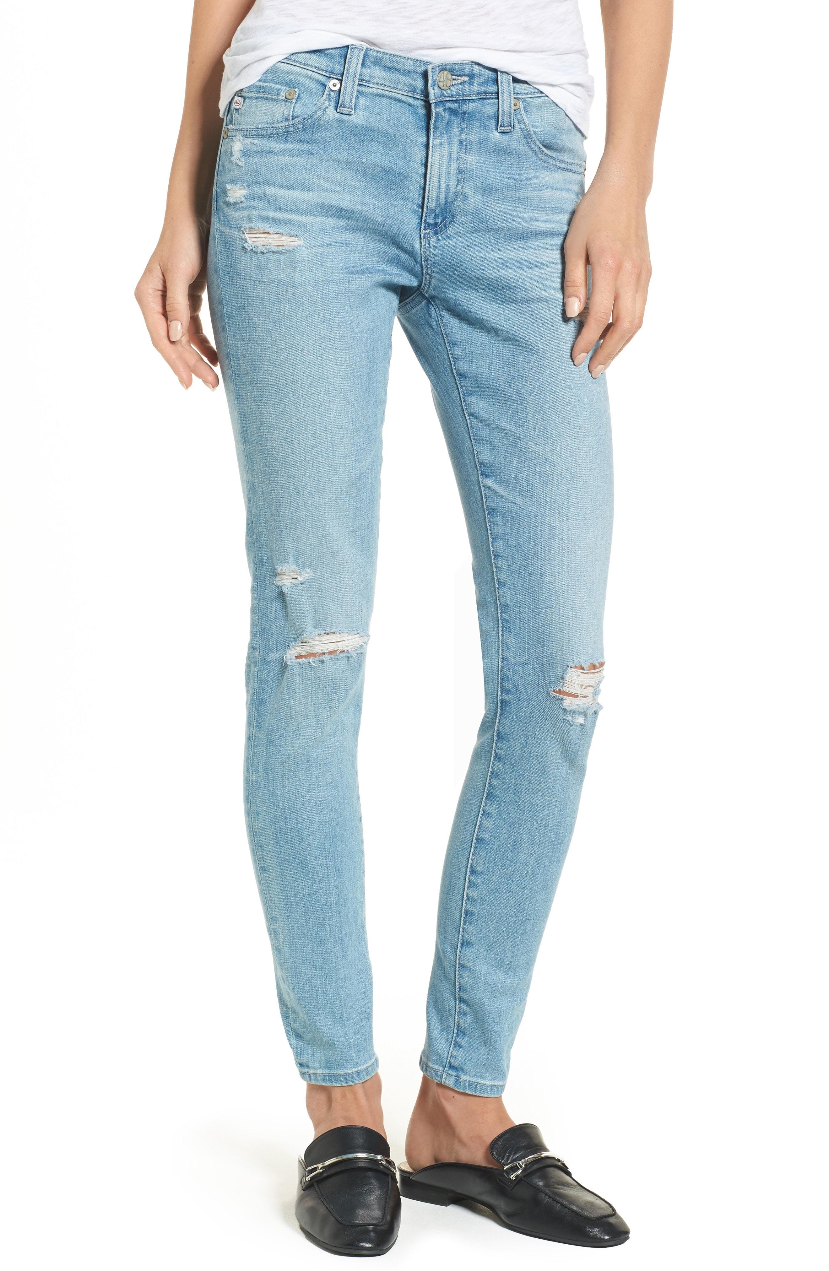 AG The Legging Ankle Super Skinny Jeans (20 Years - Oceana Destructed)