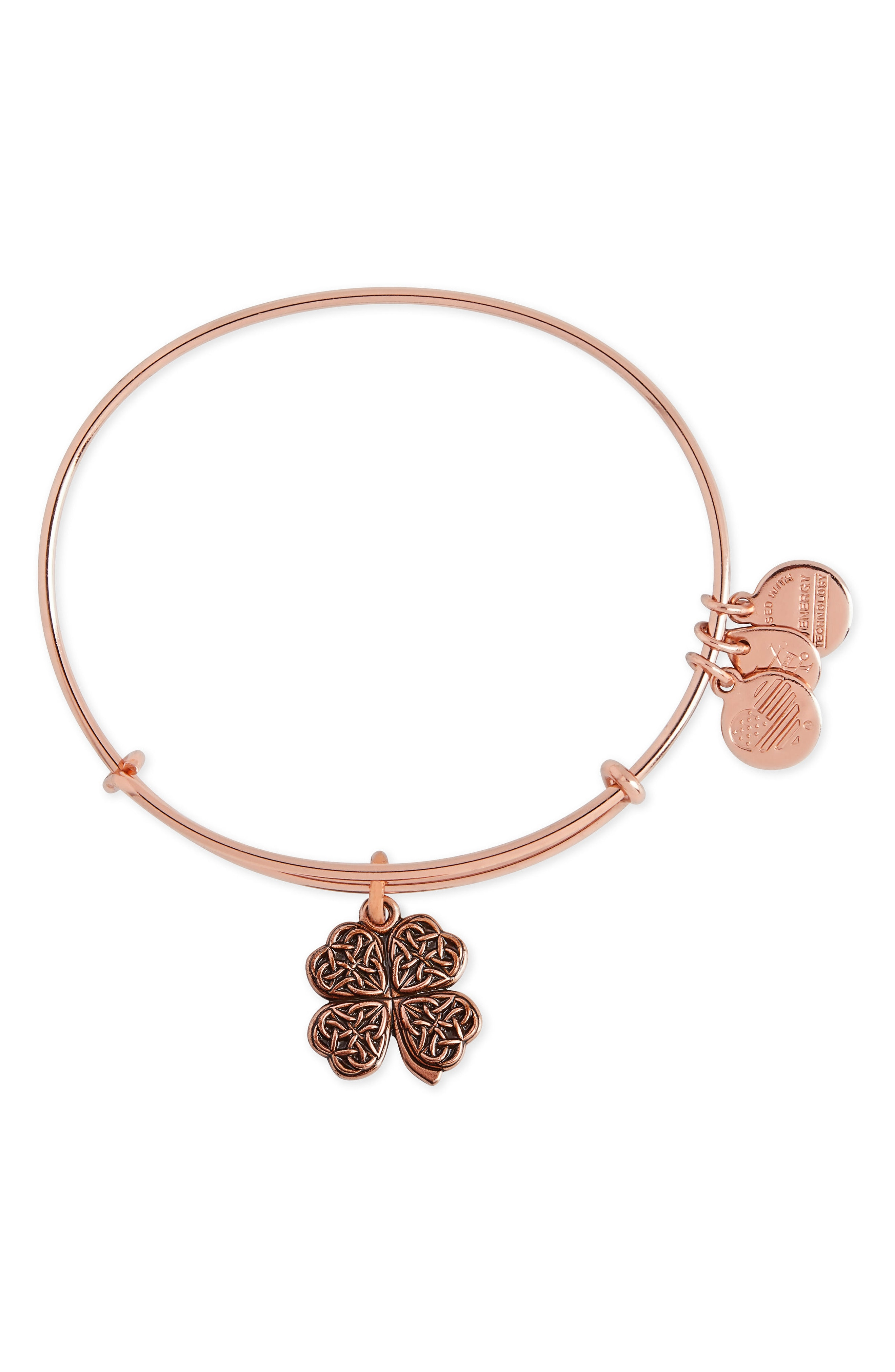 Alex and Ani Four-Leaf Clover Adjustable Wire Bangle (Nordstrom Exclusive)