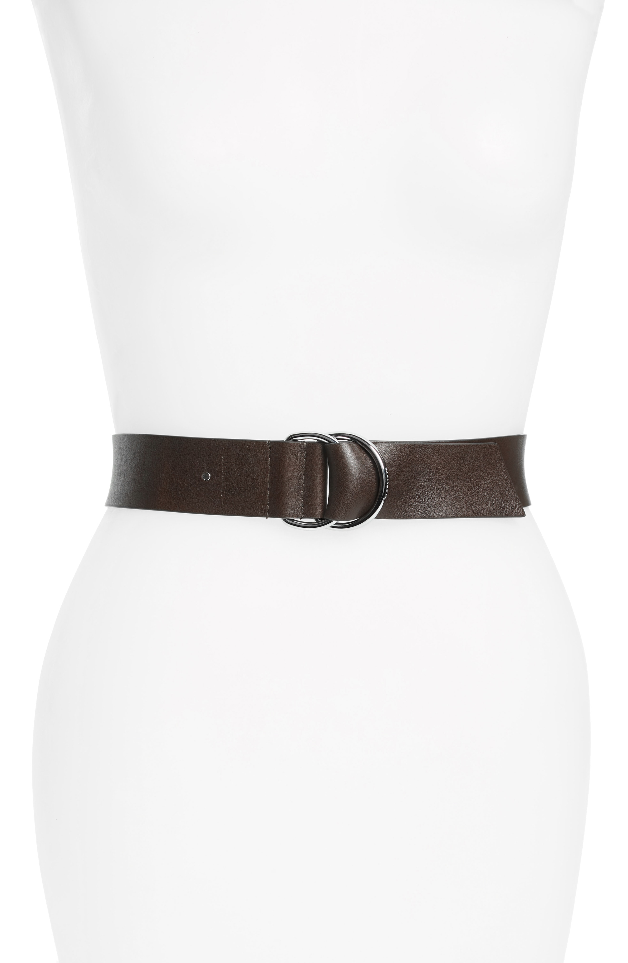 ALLSAINTS Leather D-Ring Belt