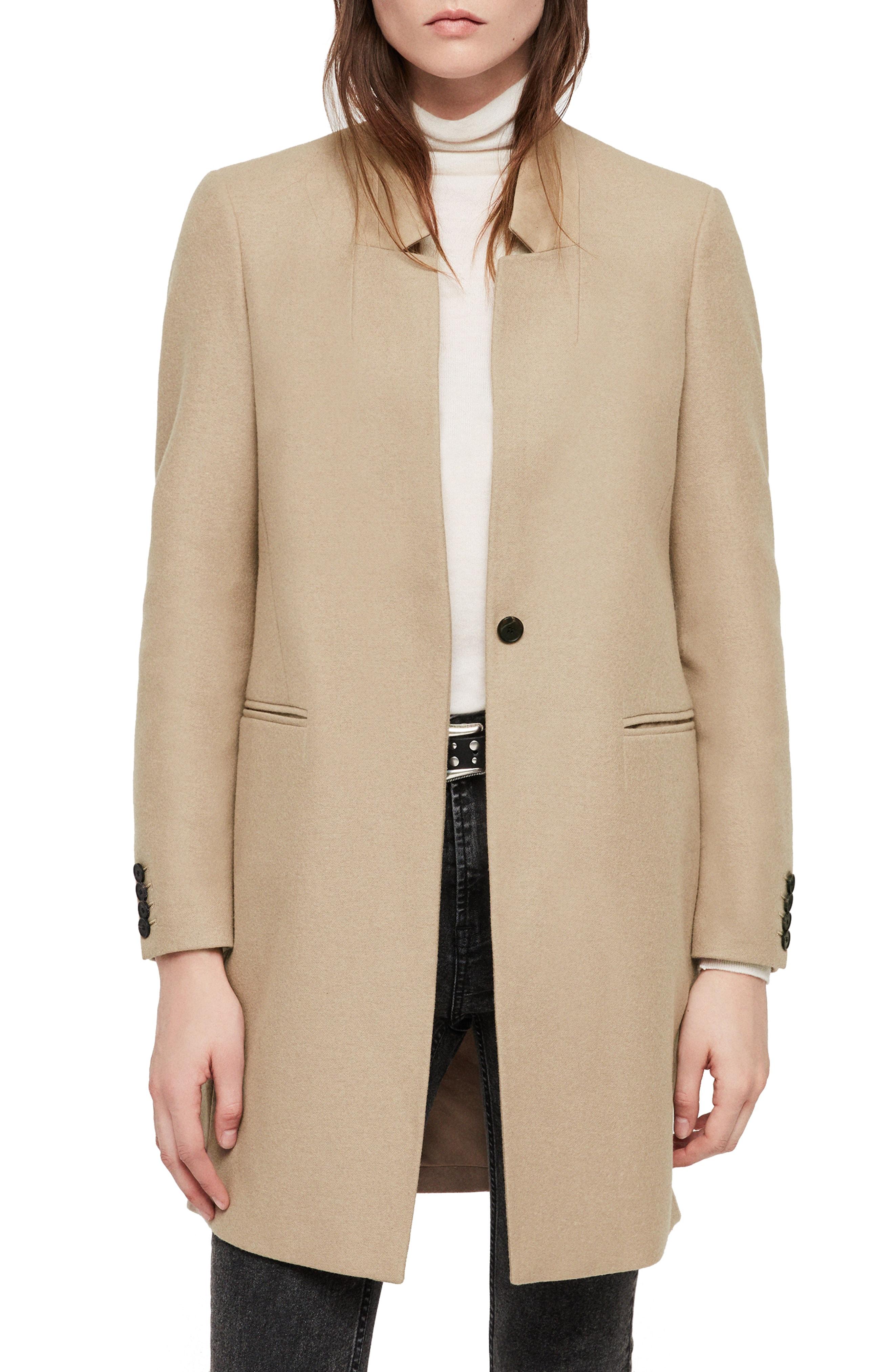 ALLSAINTS Lyla Wool Blend Coat