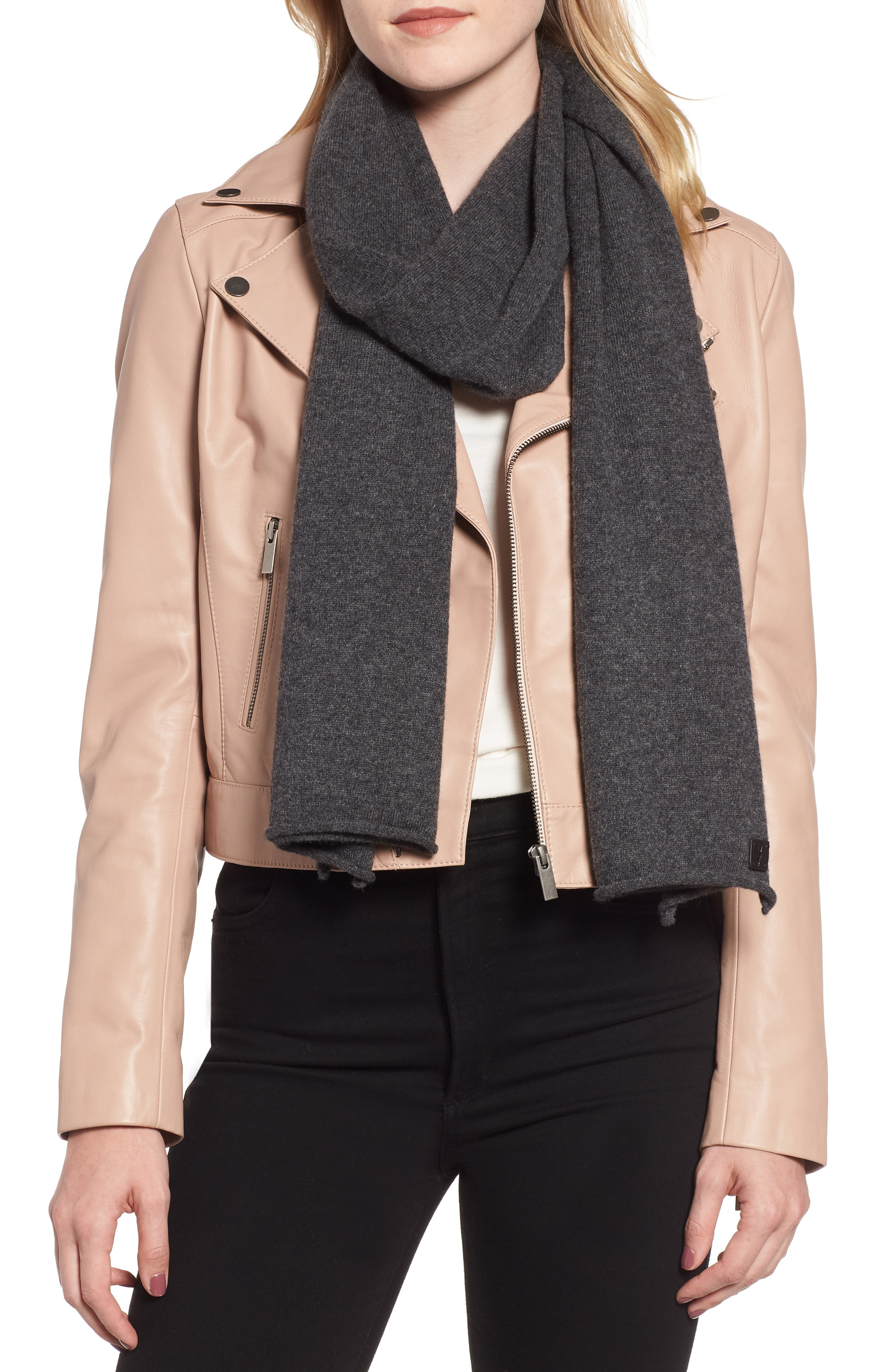 ALLSAINTS Rolled Ends Wool & Cashmere Scarf