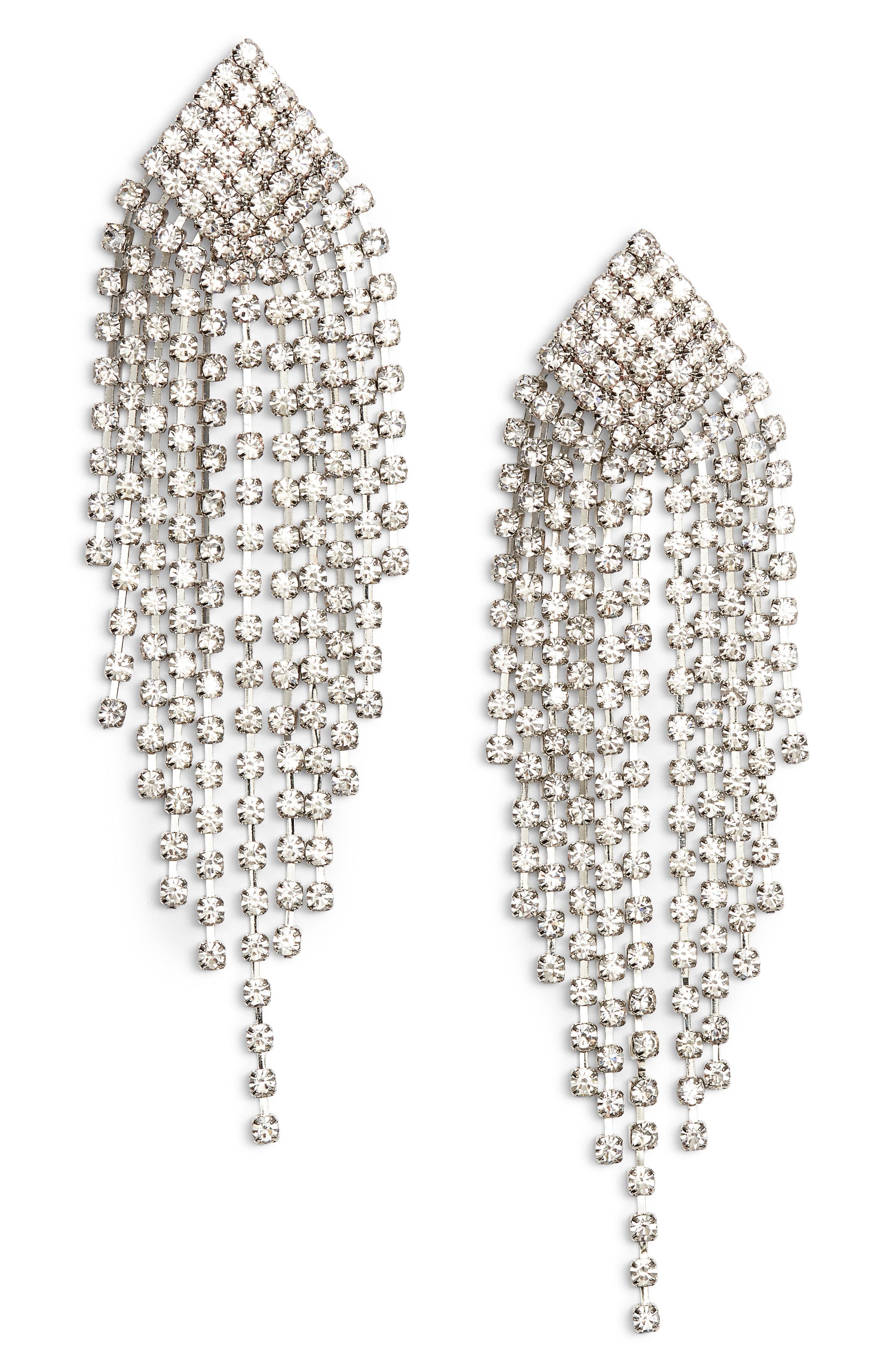 Area Stars Felice Crystal Fringe Chandelier Earrings