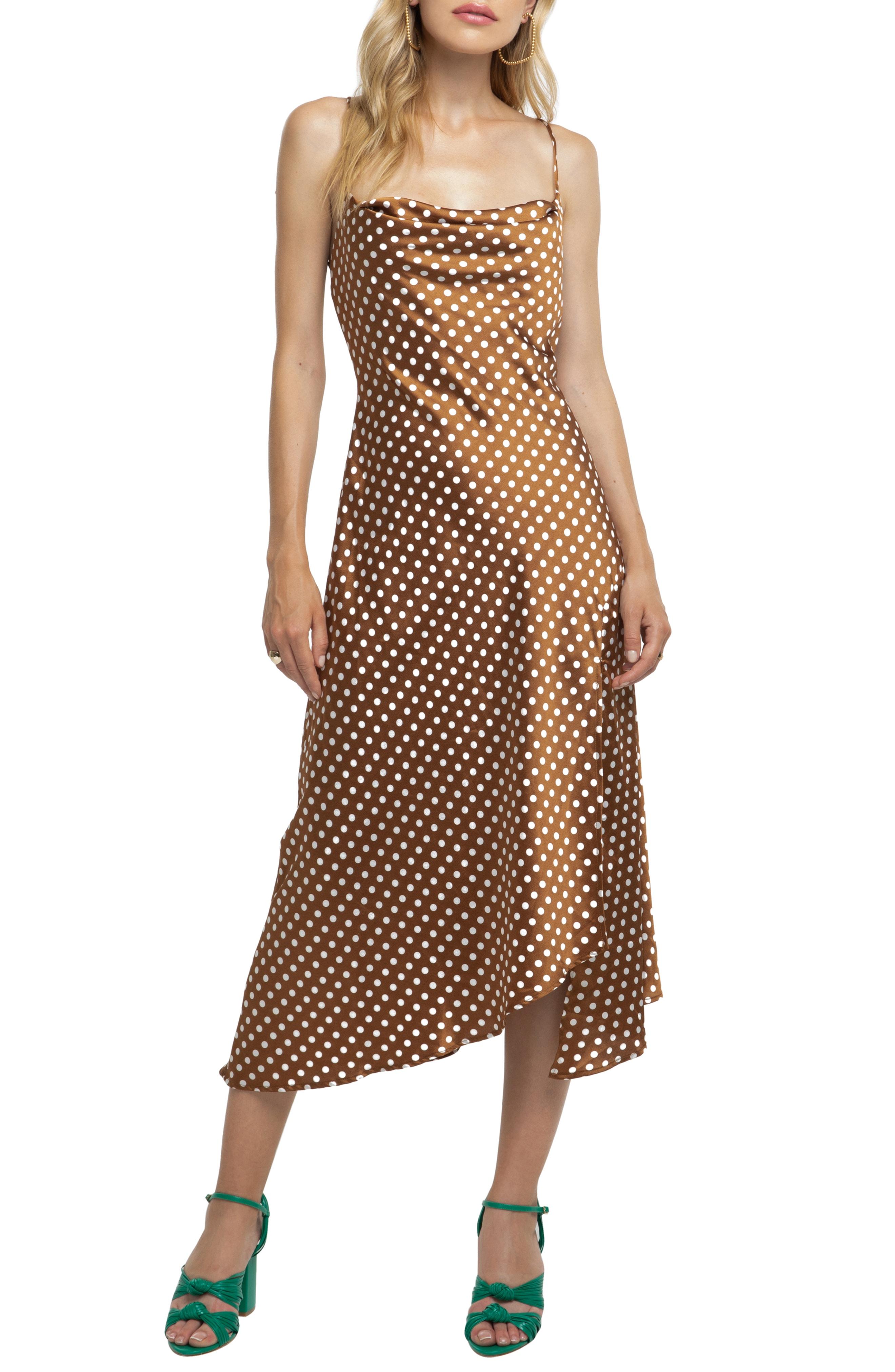 ASTR Strappy Cowl Neck Midi Dress