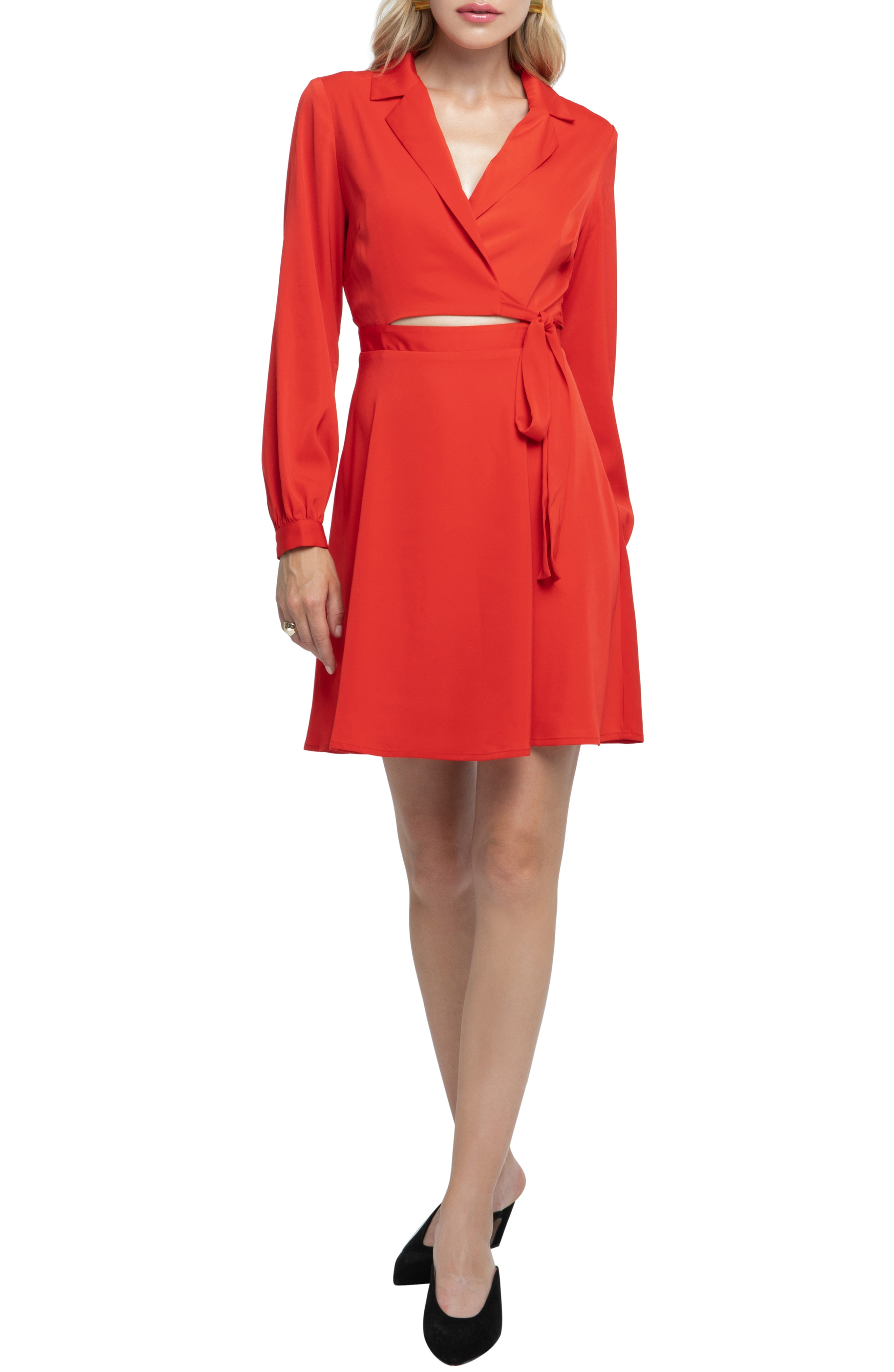 ASTR the Label Cutout Wrap Dress