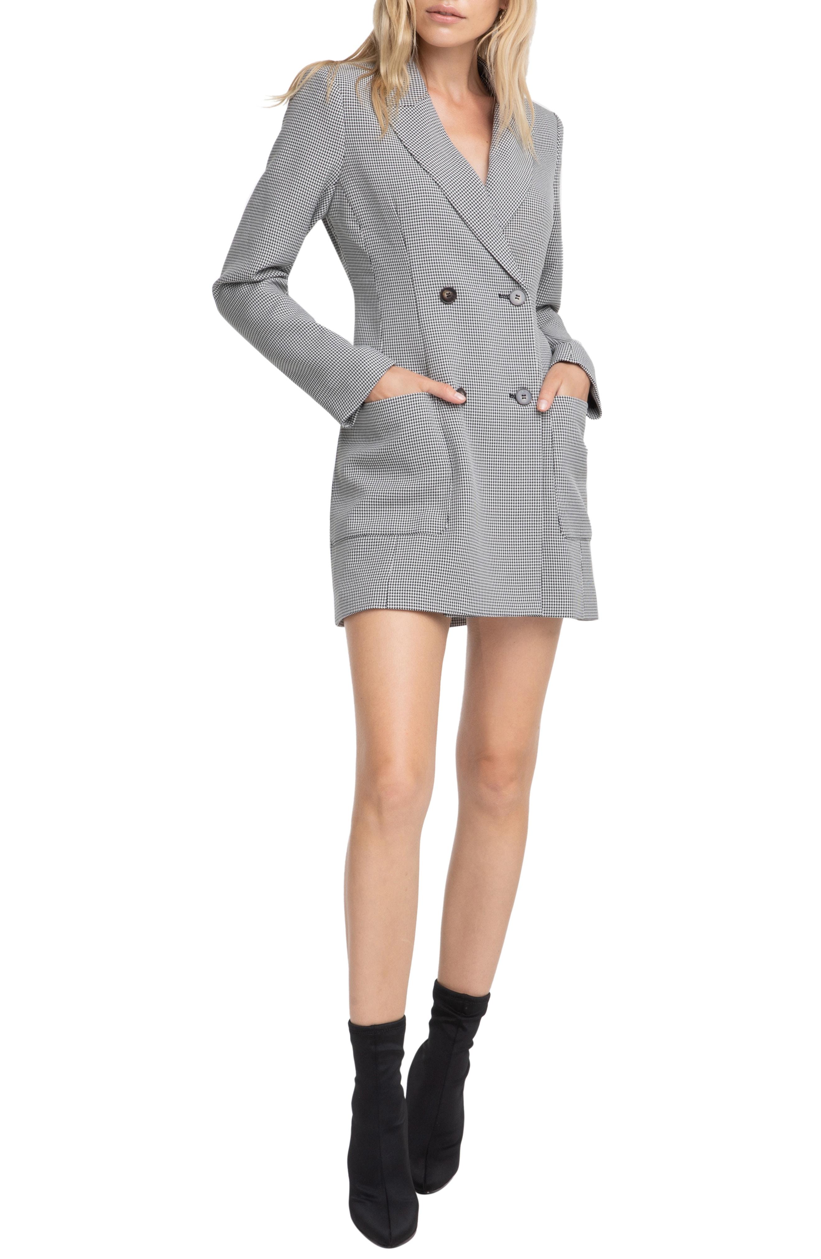 ASTR the Label Houndstooth Blazer Dress