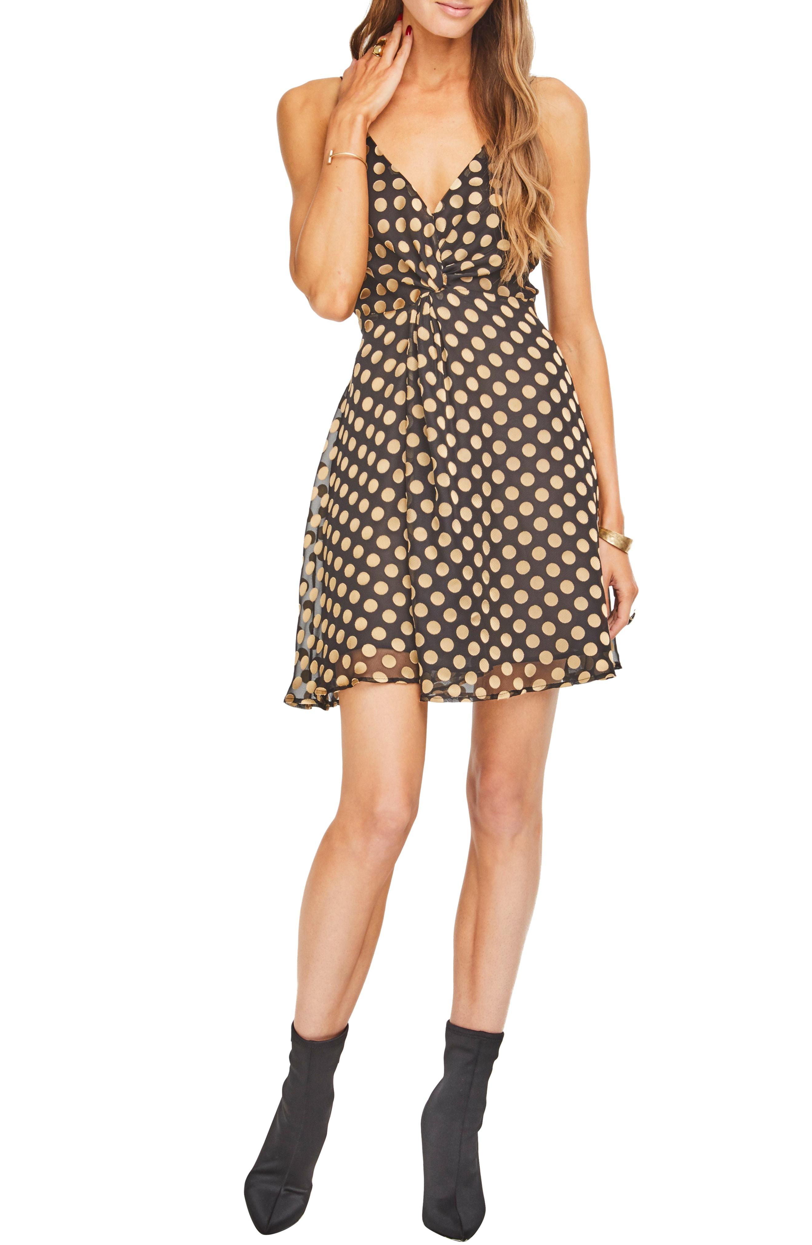 ASTR the Label Kelsey Front Twist Fit & Flare Dress
