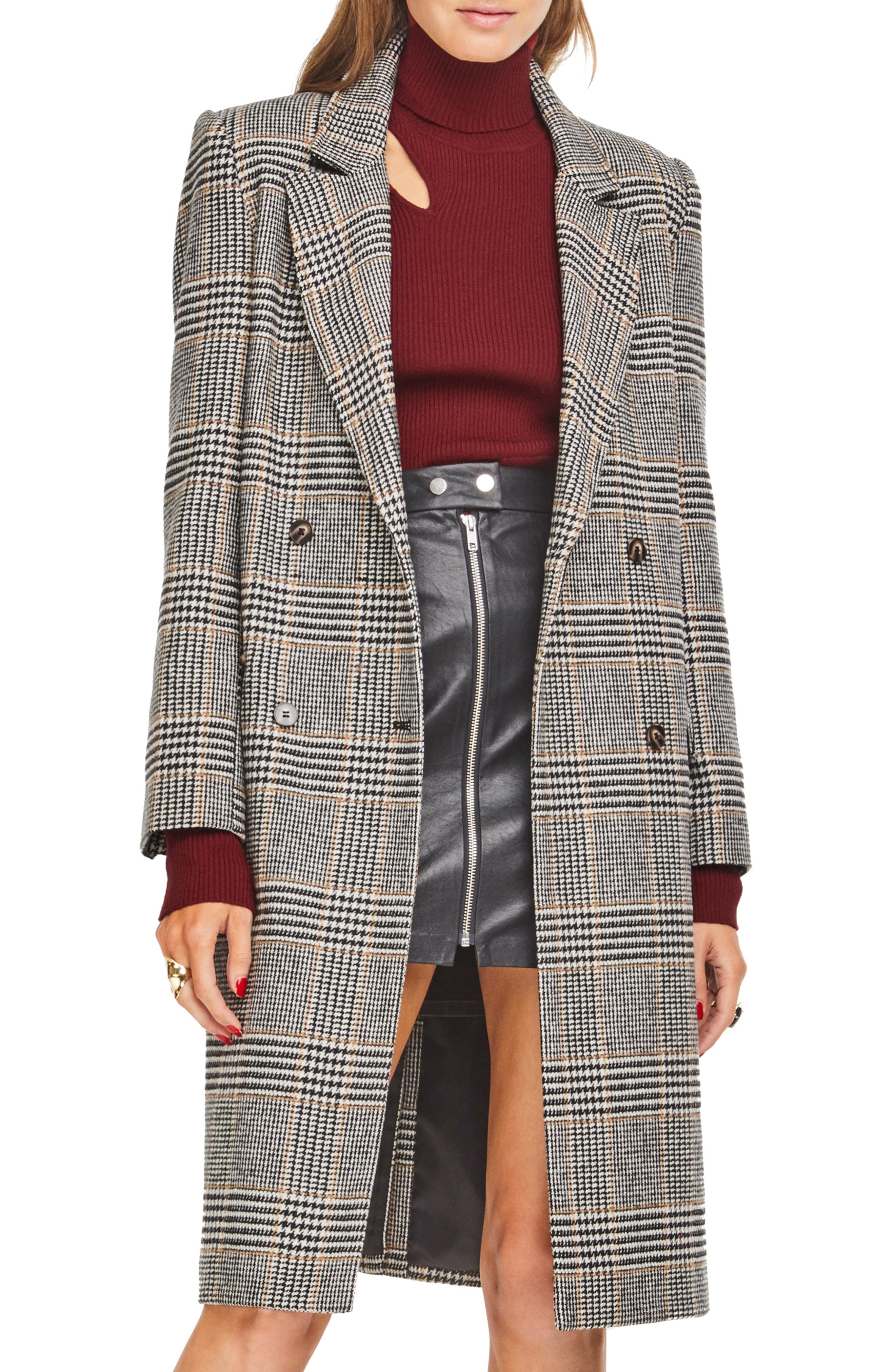 ASTR the Label Kensington Plaid Long Coat