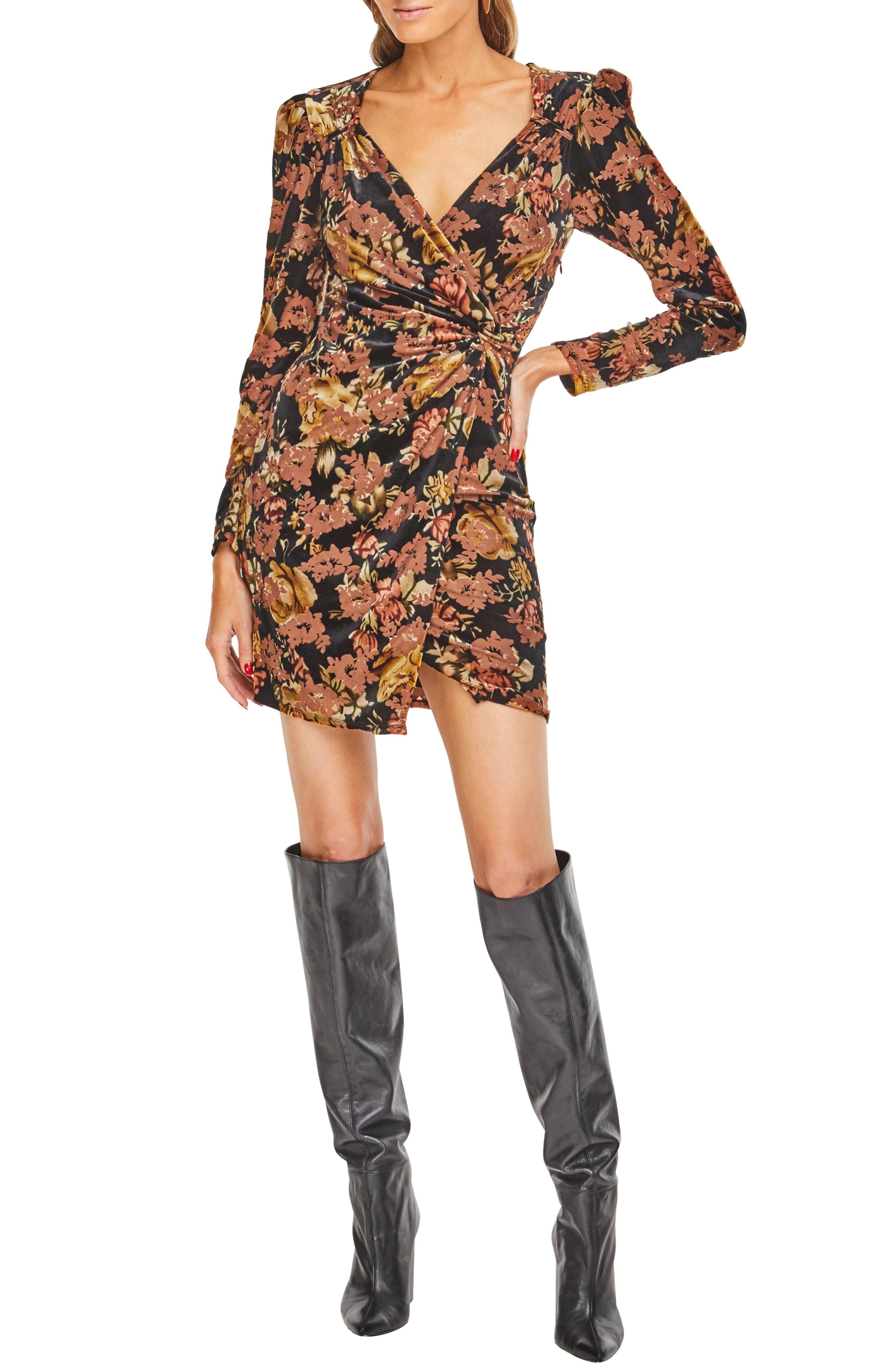 ASTR the Label Lanita Faux Wrap Minidress