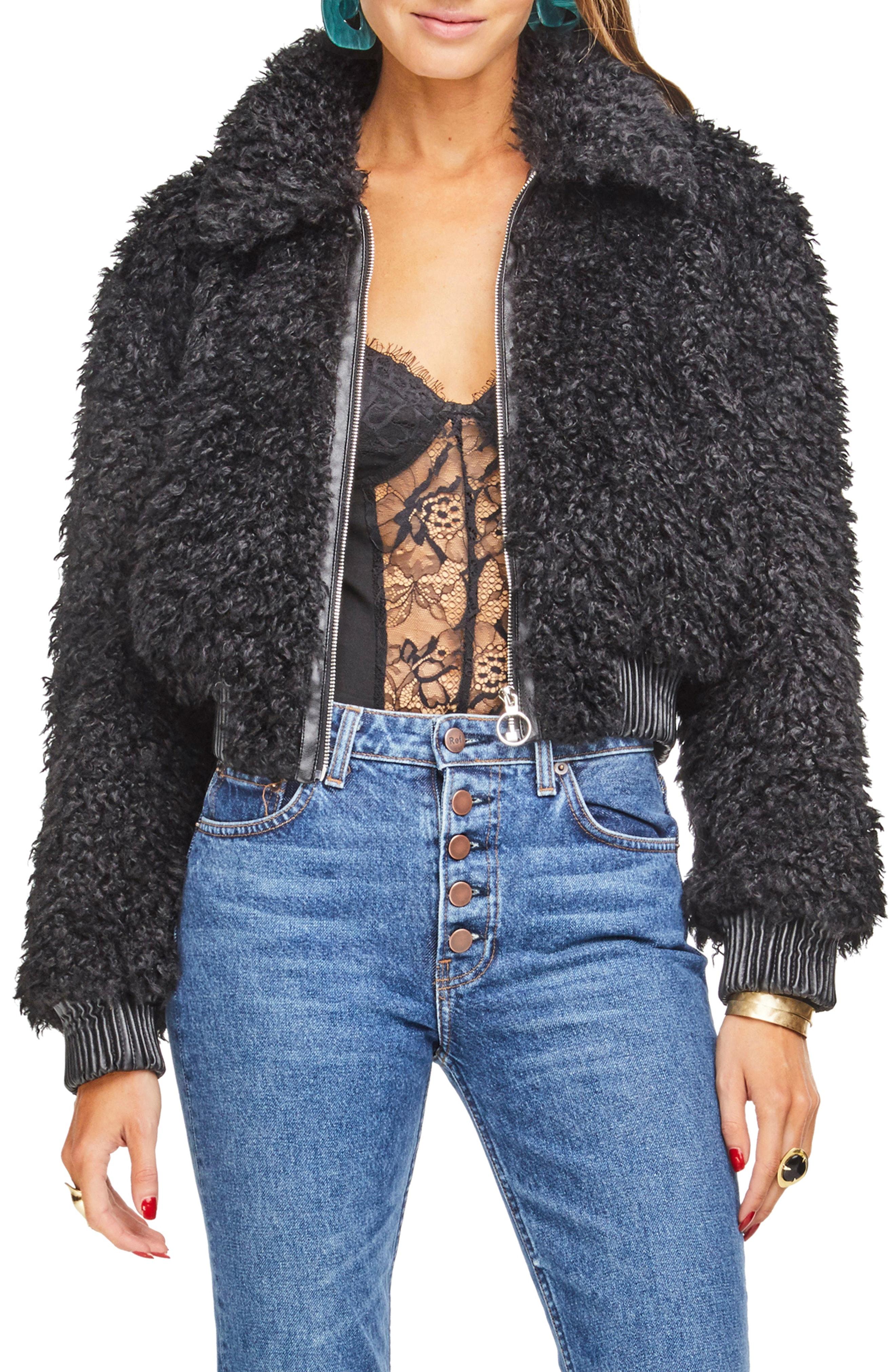 ASTR the Label Phoenix Faux Fur Jacket