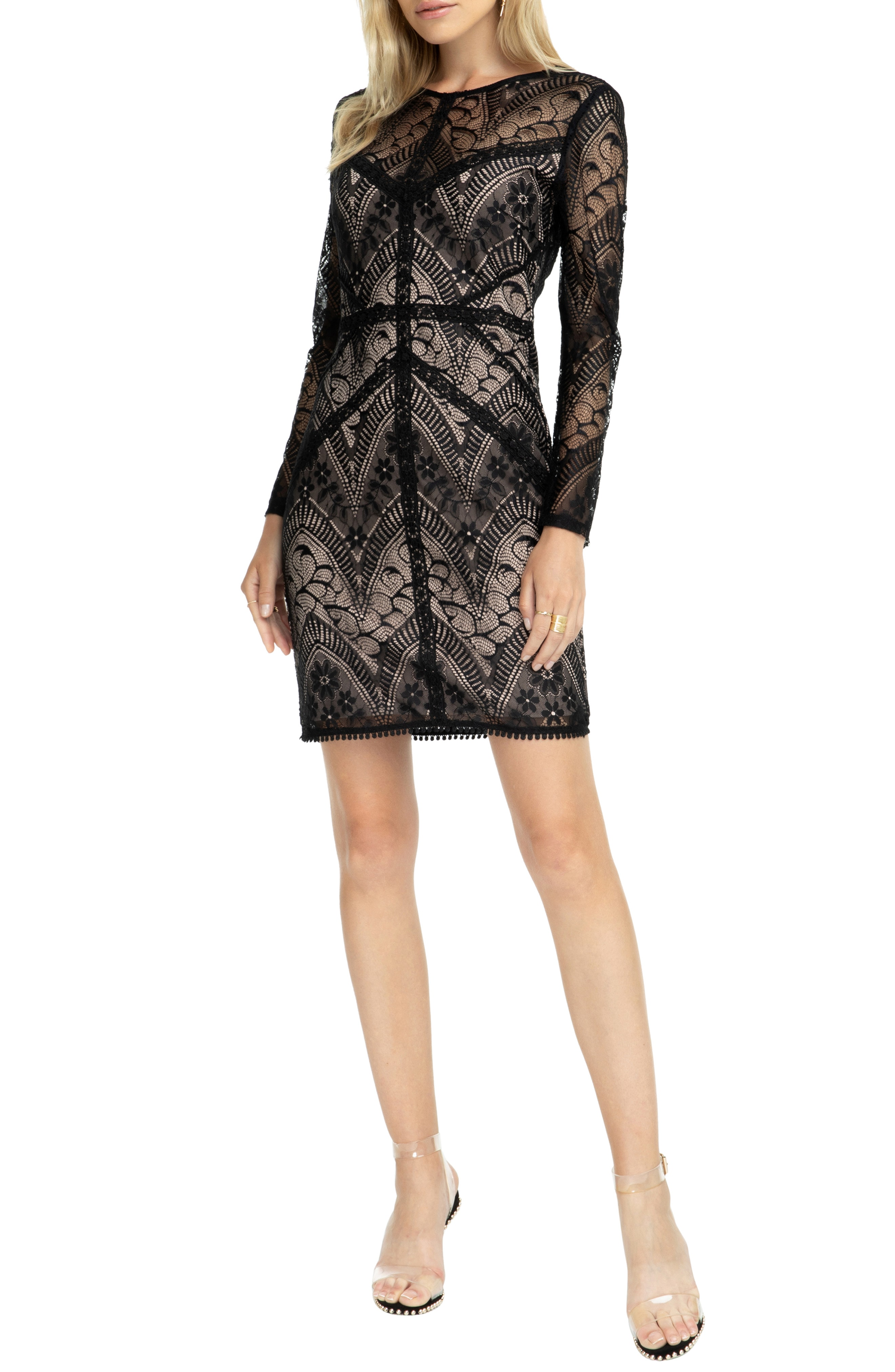 ASTR the Label Scooped Back Lace Dress