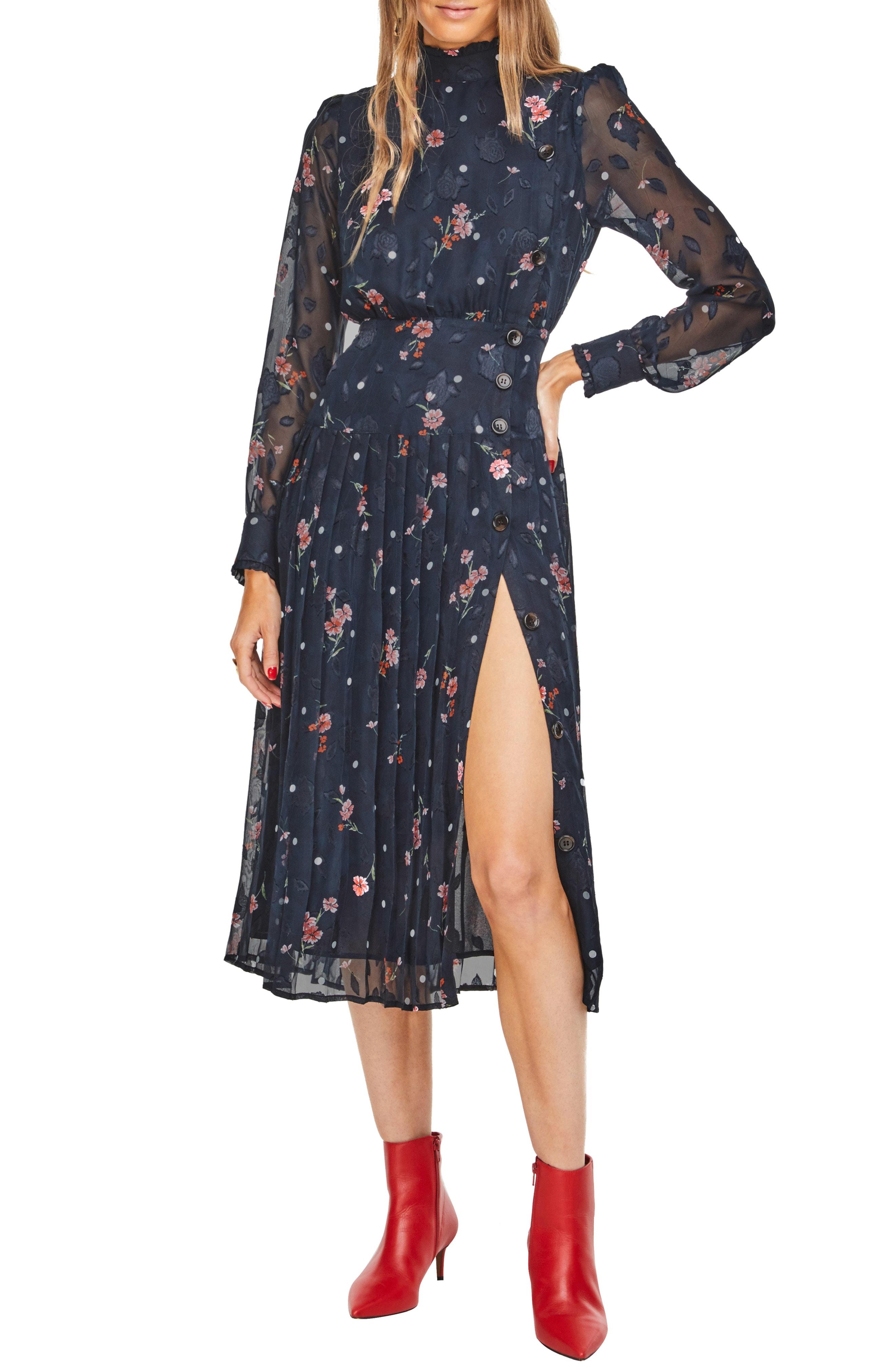 ASTR the Label Spencer Floral Appliqu Dress