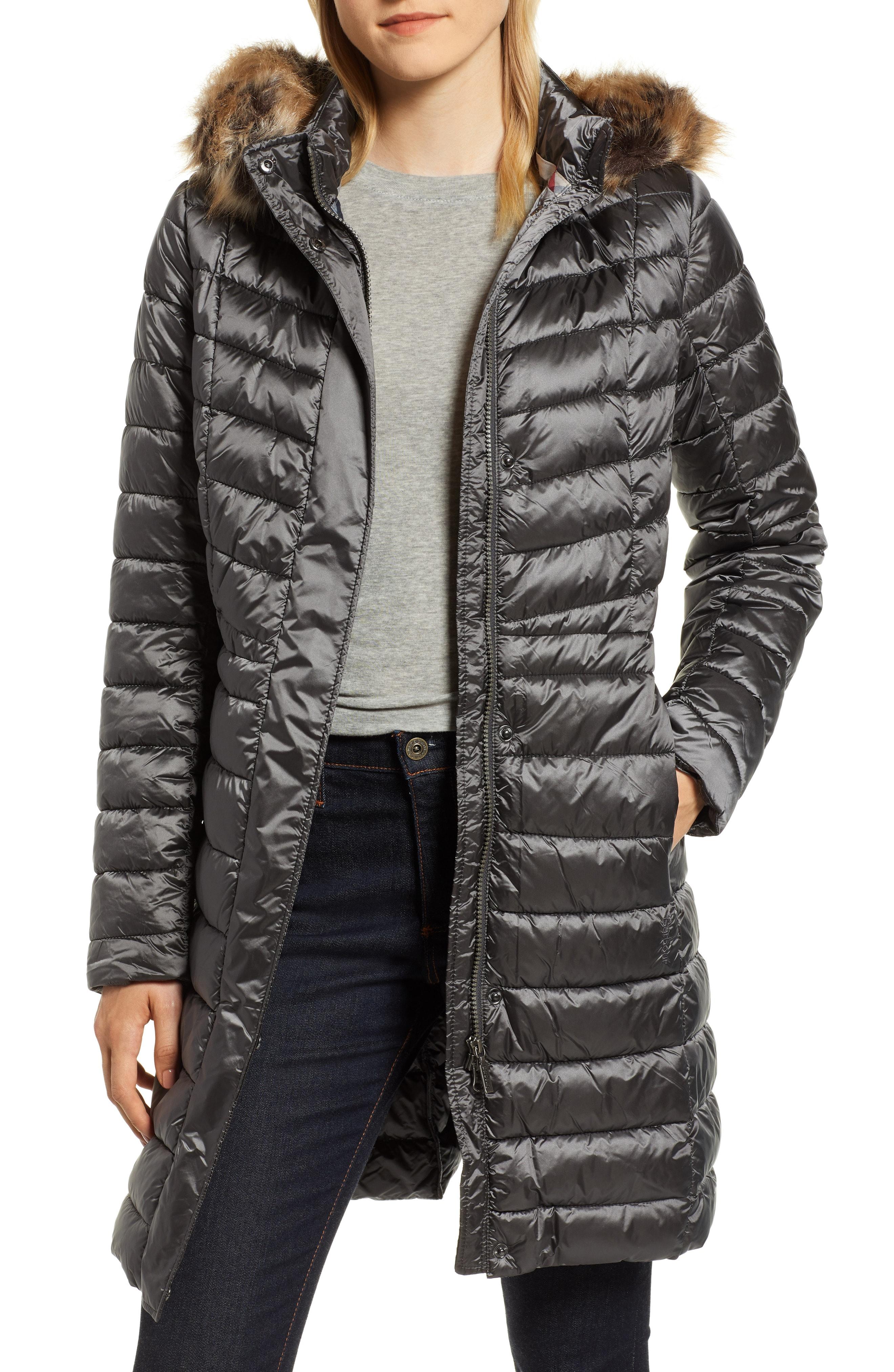 Barbour Berneray Faux Fur Trim Quilted Jacket
