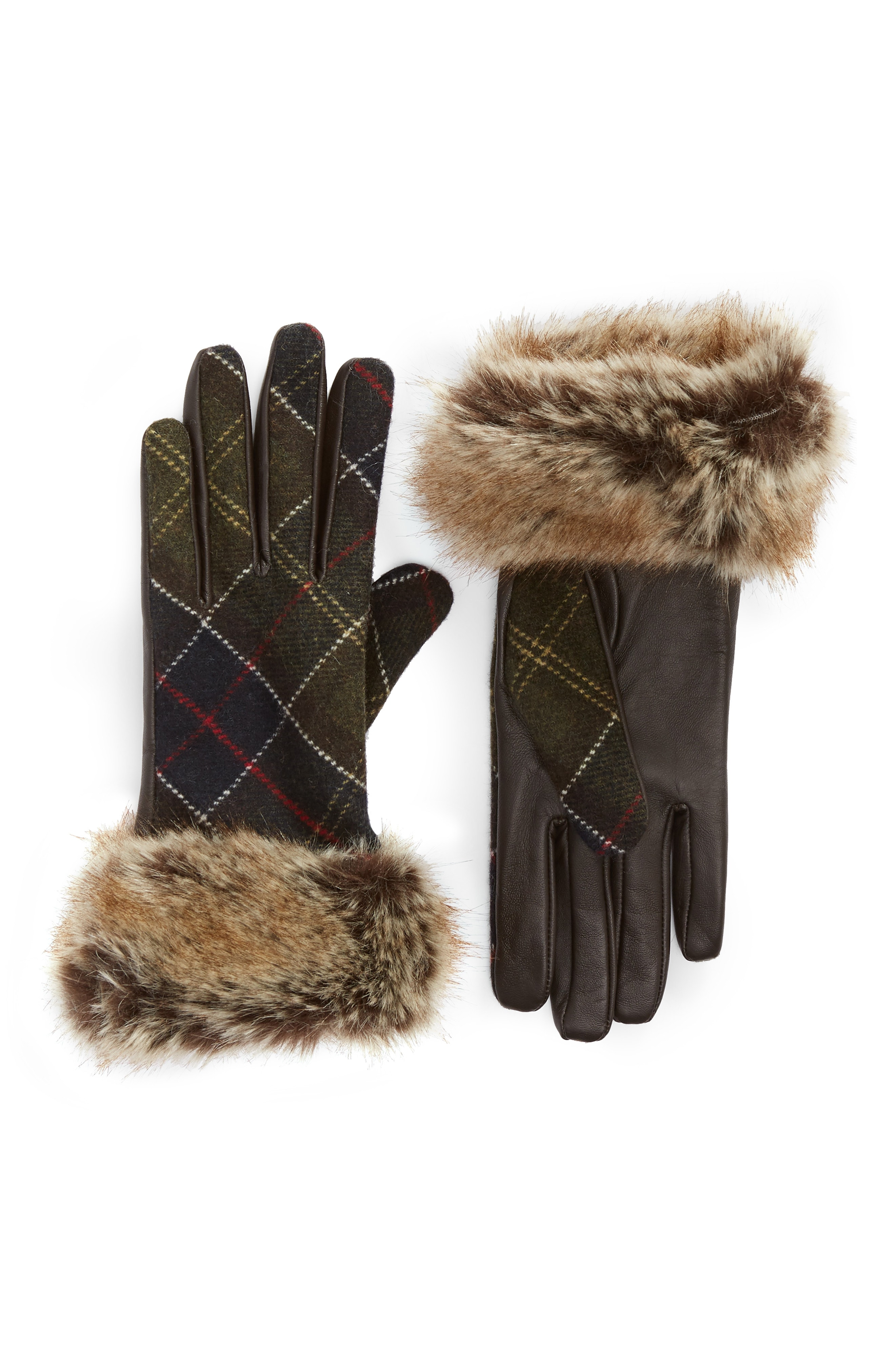 Barbour Linton Leather & Wool Gloves