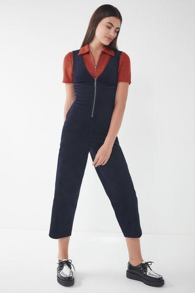 BDG April Corduroy Zip-Front Jumpsuit