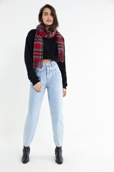 BDG Carlie Pleated High-Rise Tapered Jean