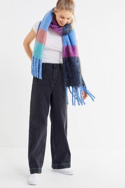 BDG Contrast Stitch Wide Leg Jean