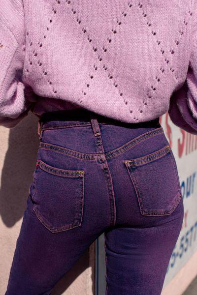 BDG Girlfriend High-Rise Jean – Purple