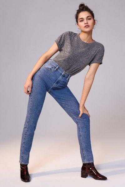 BDG Girlfriend High-Rise Longline Jean – Medium Wash