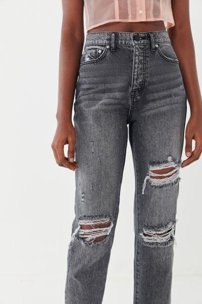 BDG High-Rise Slim Straight Jean – Washed Black