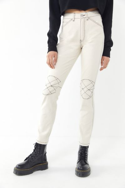 BDG Quinn High-Rise Contrast Stitch Skinny Jean