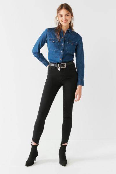 BDG Twig Frayed High-Rise Skinny Jean – Black