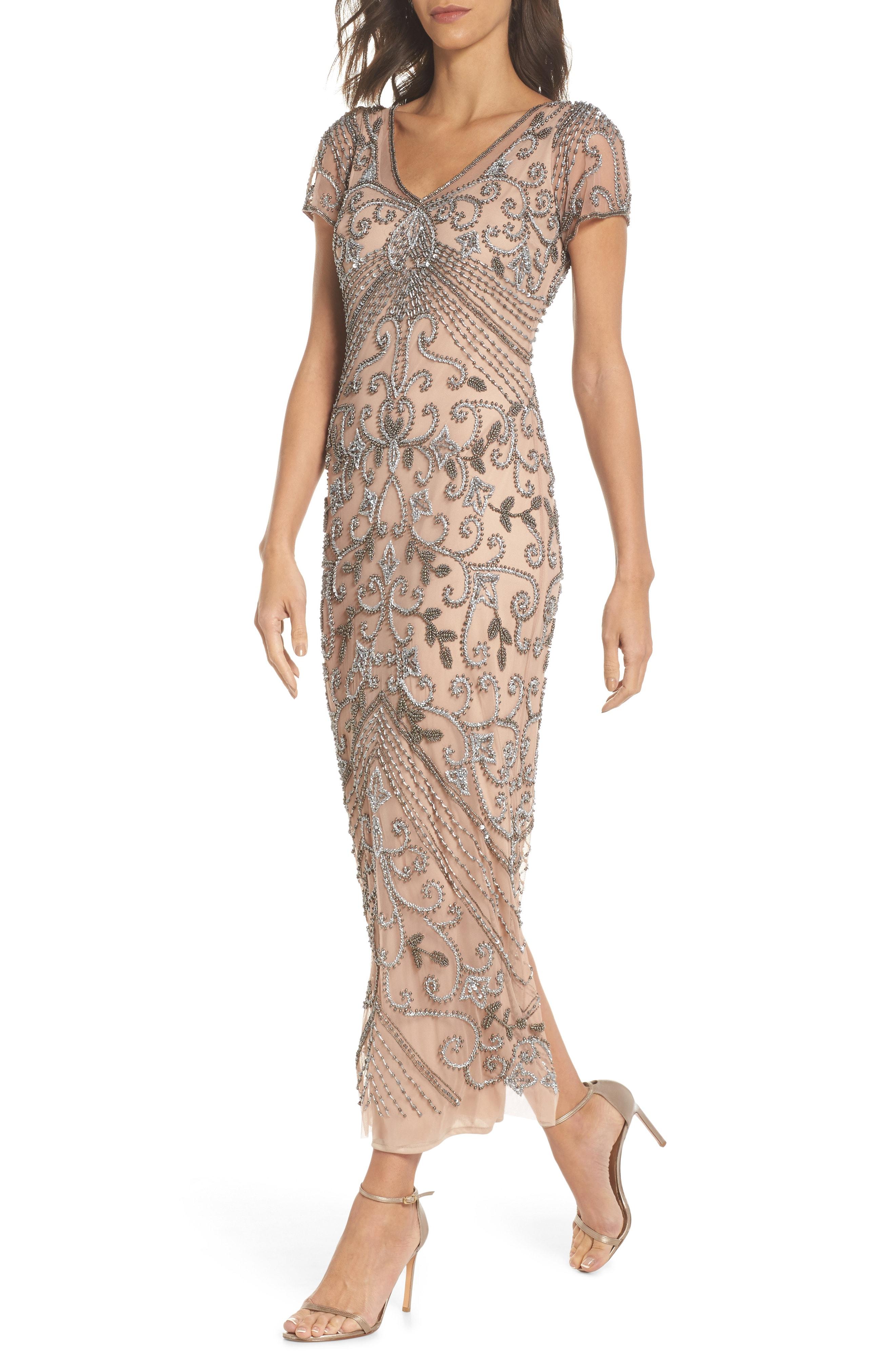 Pisarro Nights Beaded Longline Gown (Regular & Petite)