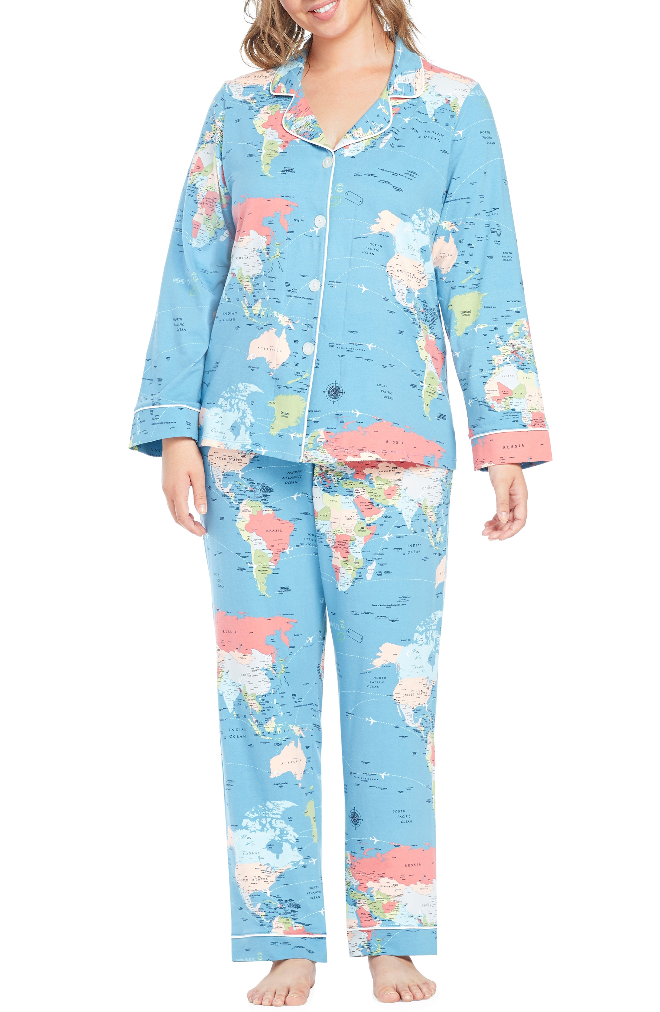 BedHead Classic Print Pajamas (Plus Size)