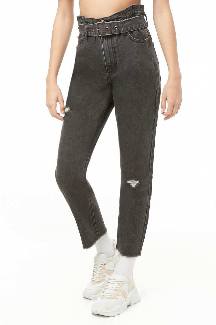 F21 Belted High-Rise Jeans