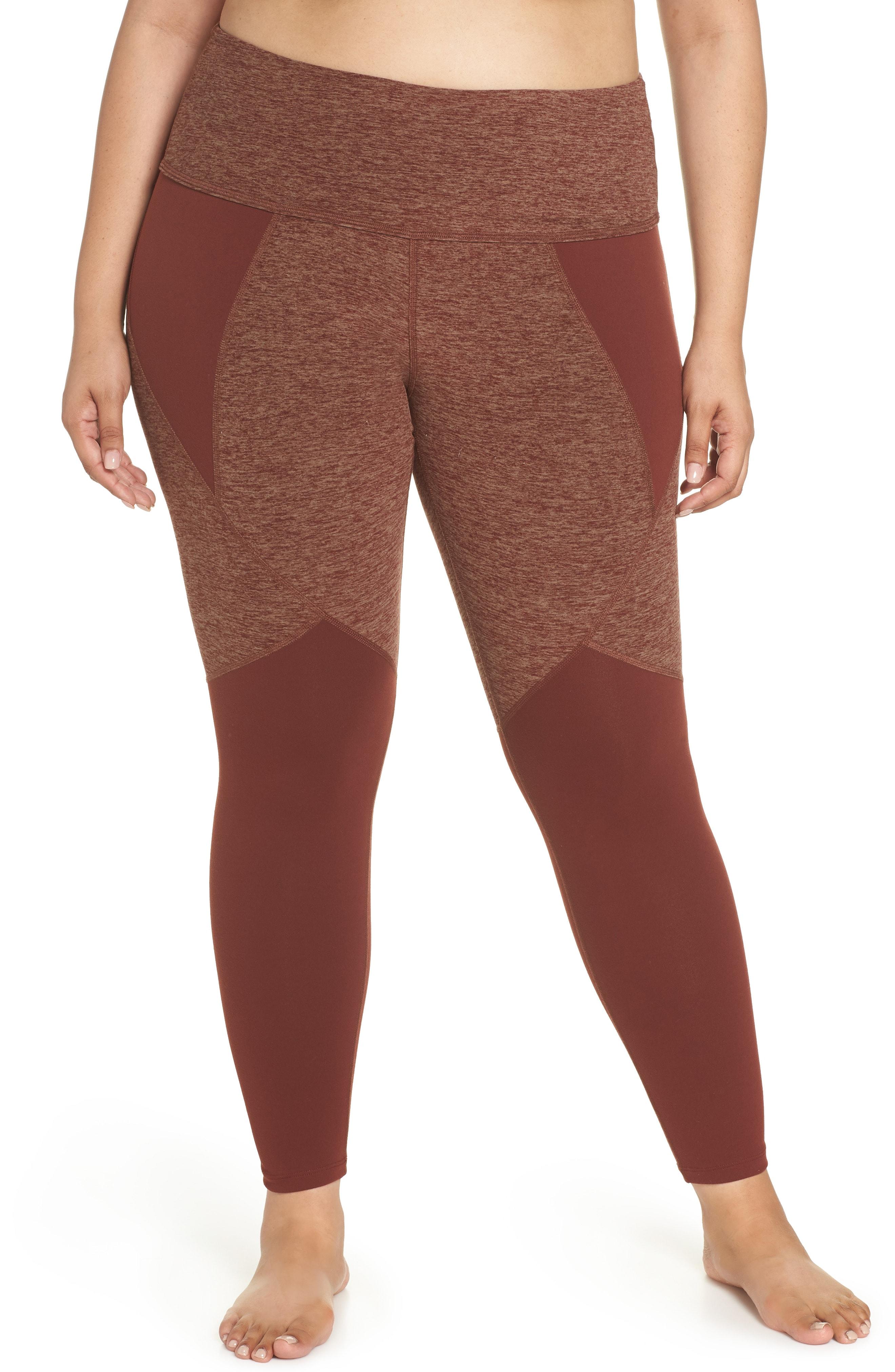 Beyond Yoga Paneled Space Dye High Waist Leggings (Plus Size)