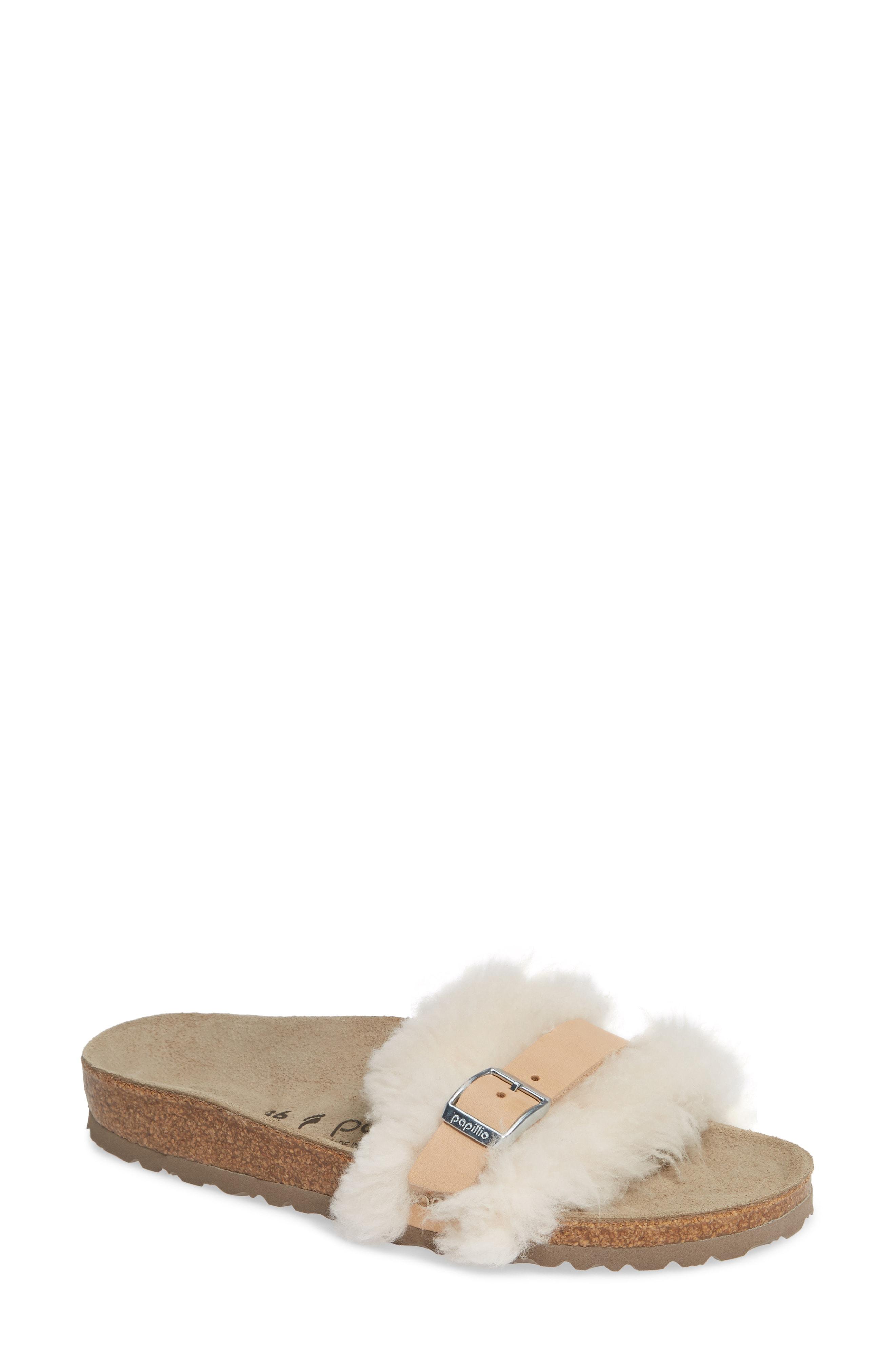 Birkenstock Carmen Genuine Shearling Slide Sandal (Women)