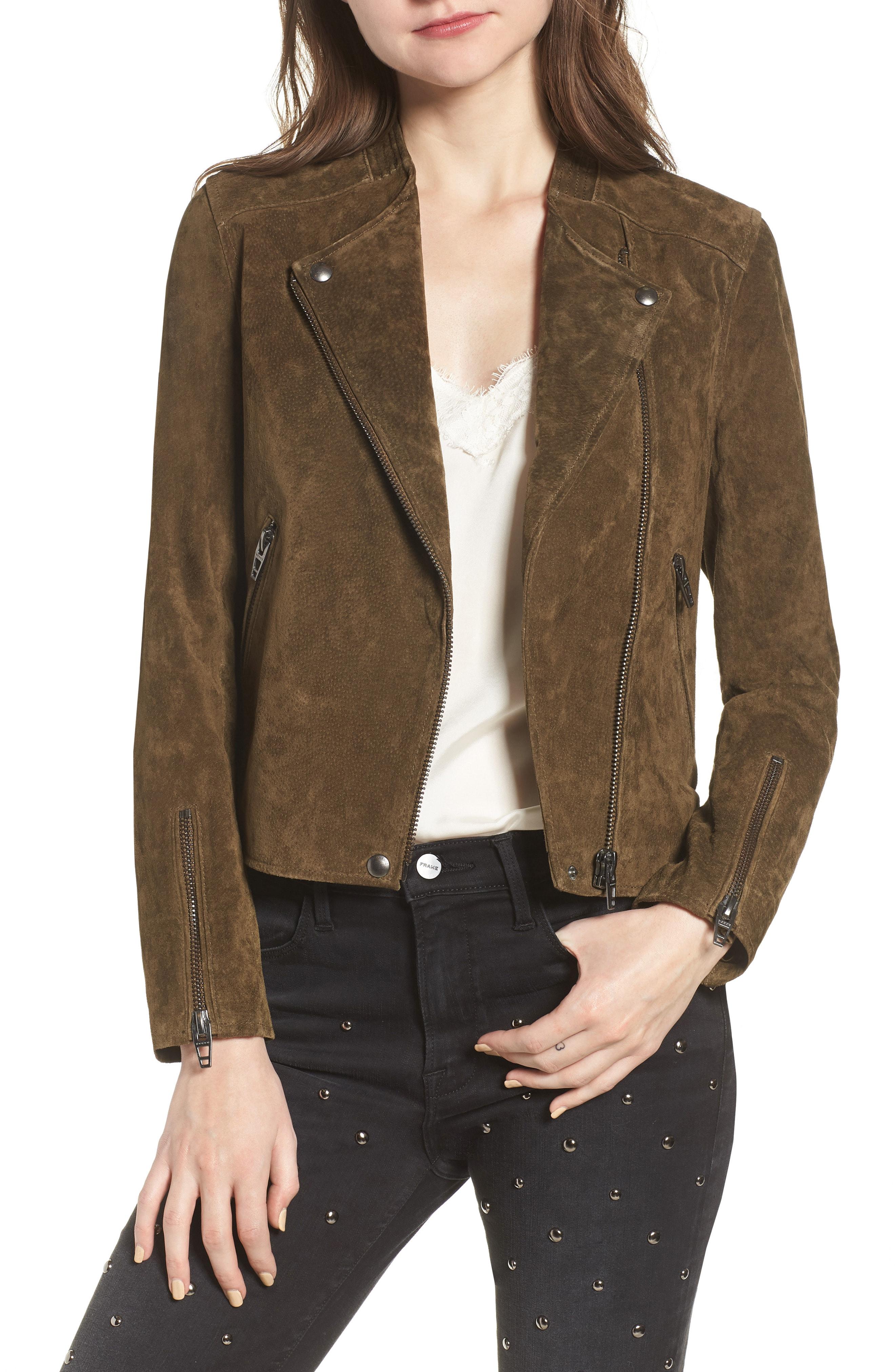 BLANKNYC No Limit Suede Moto Jacket