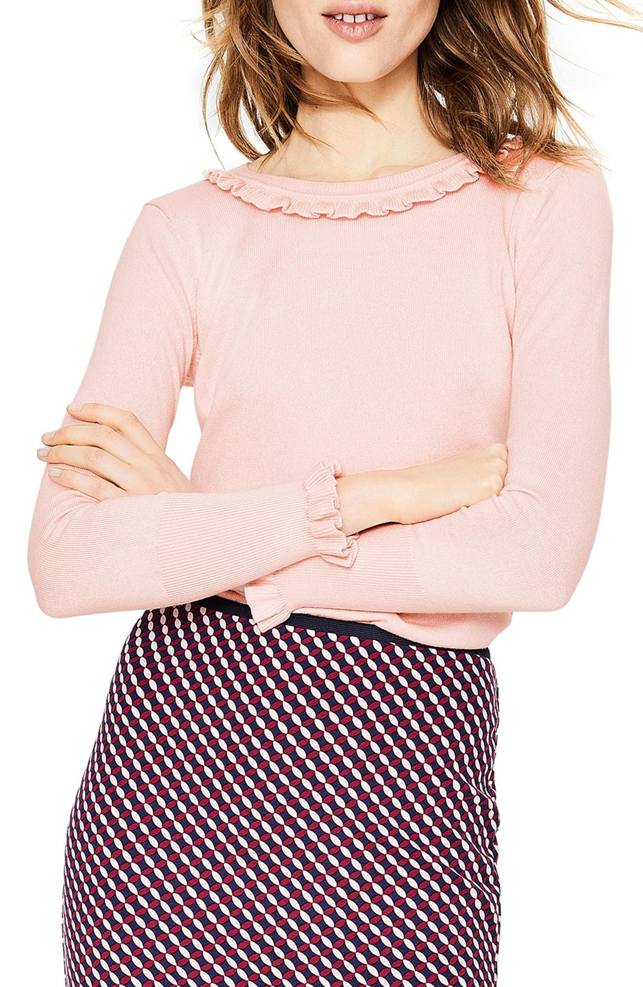 Boden Bernadette Wool Cotton Sweater