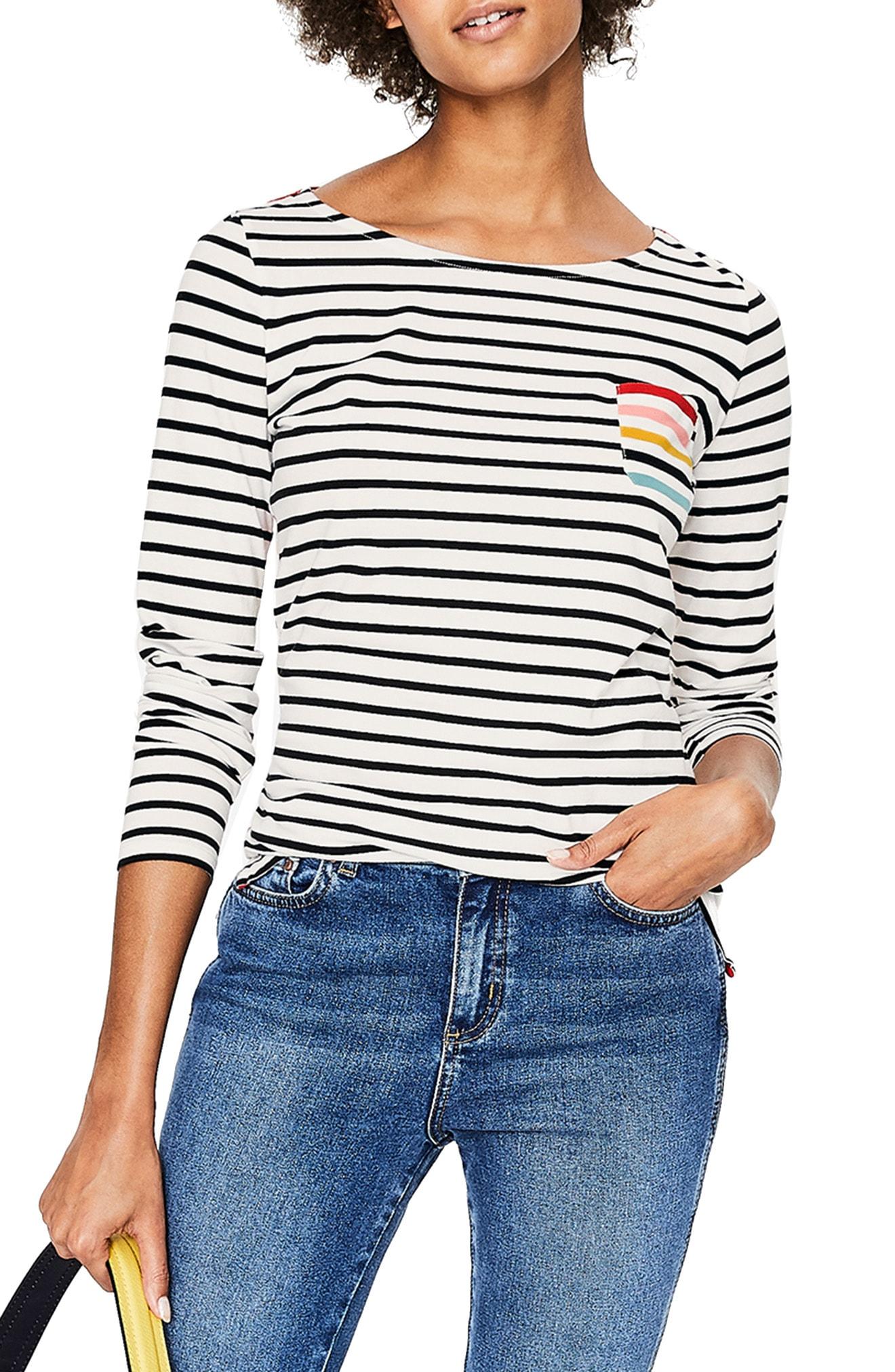 Boden Breton Stripe Colorblock Top