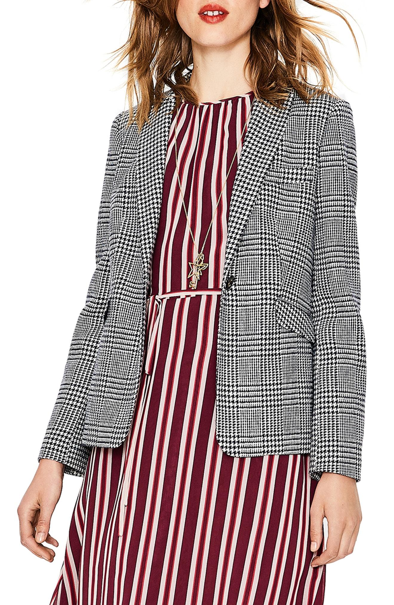 Boden British Tweed Wool Blazer