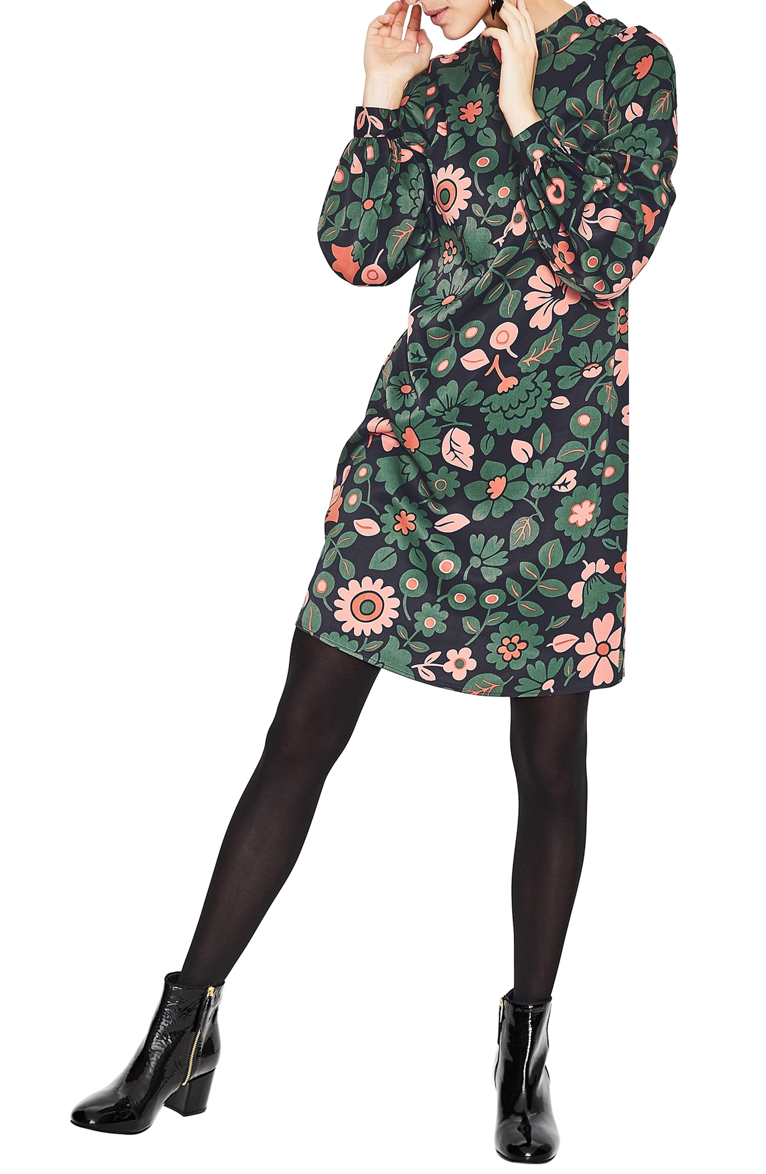 Boden Christobel Floral Shift Dress (Regular & Plus Size)