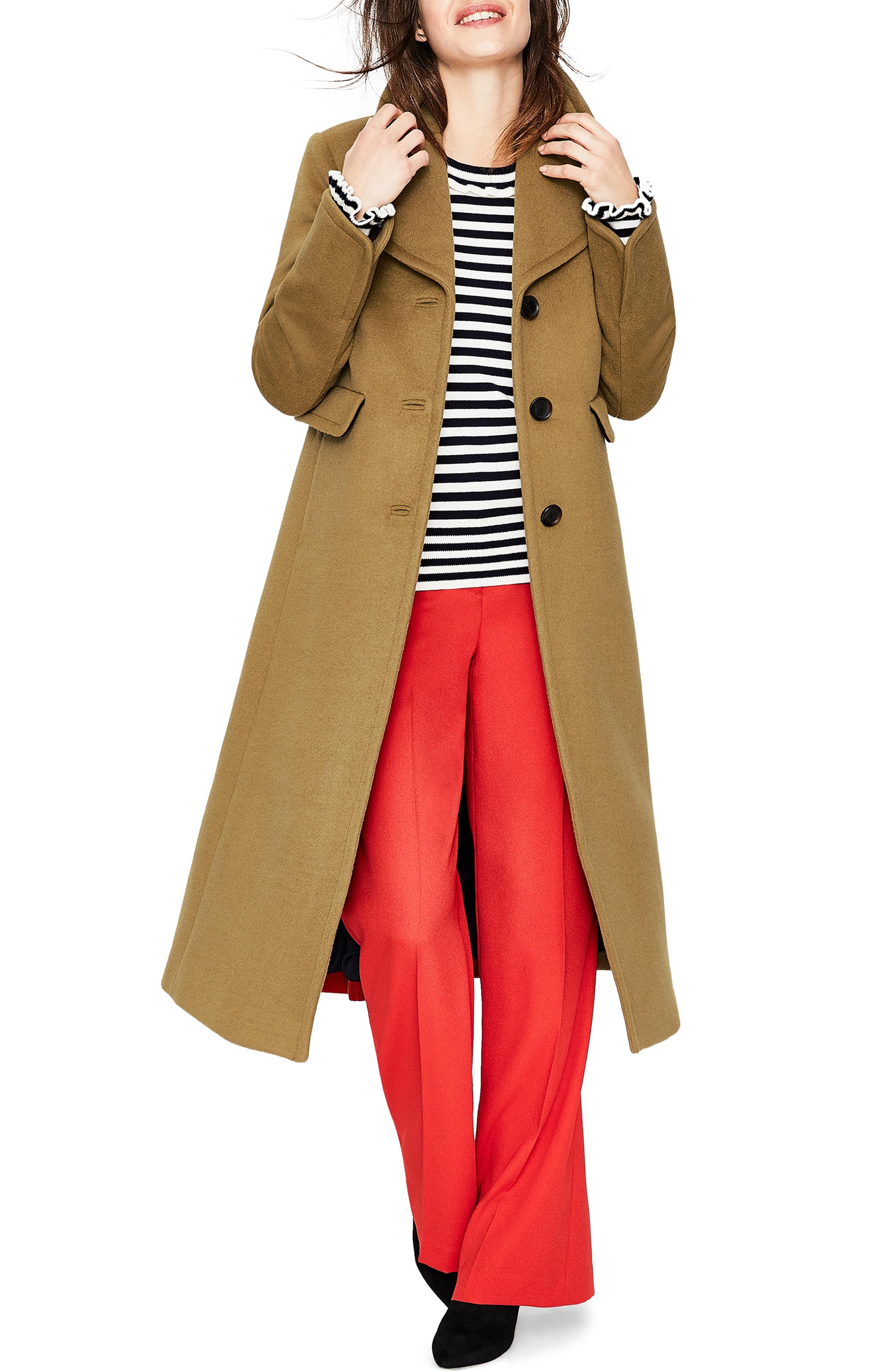 Boden Farleigh Long Colorblock Coat (Plus Size)