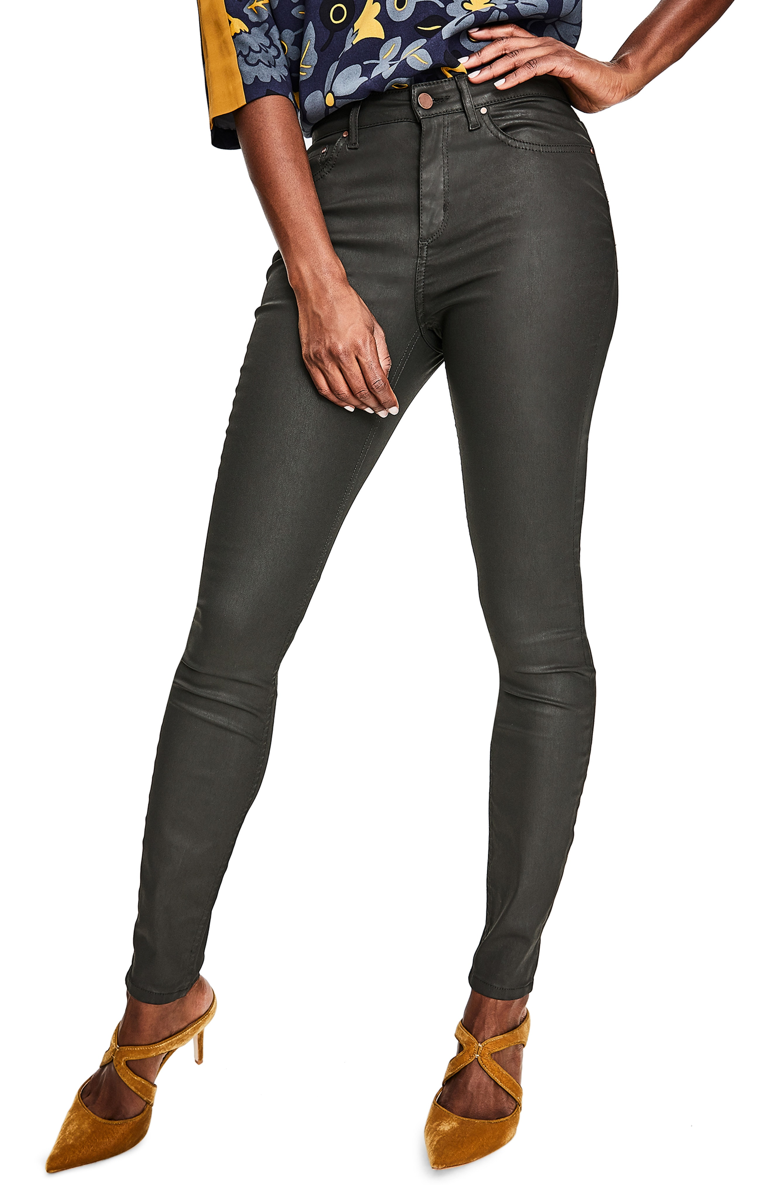 Boden Mayfair Skinny Jeans (Black Wax)