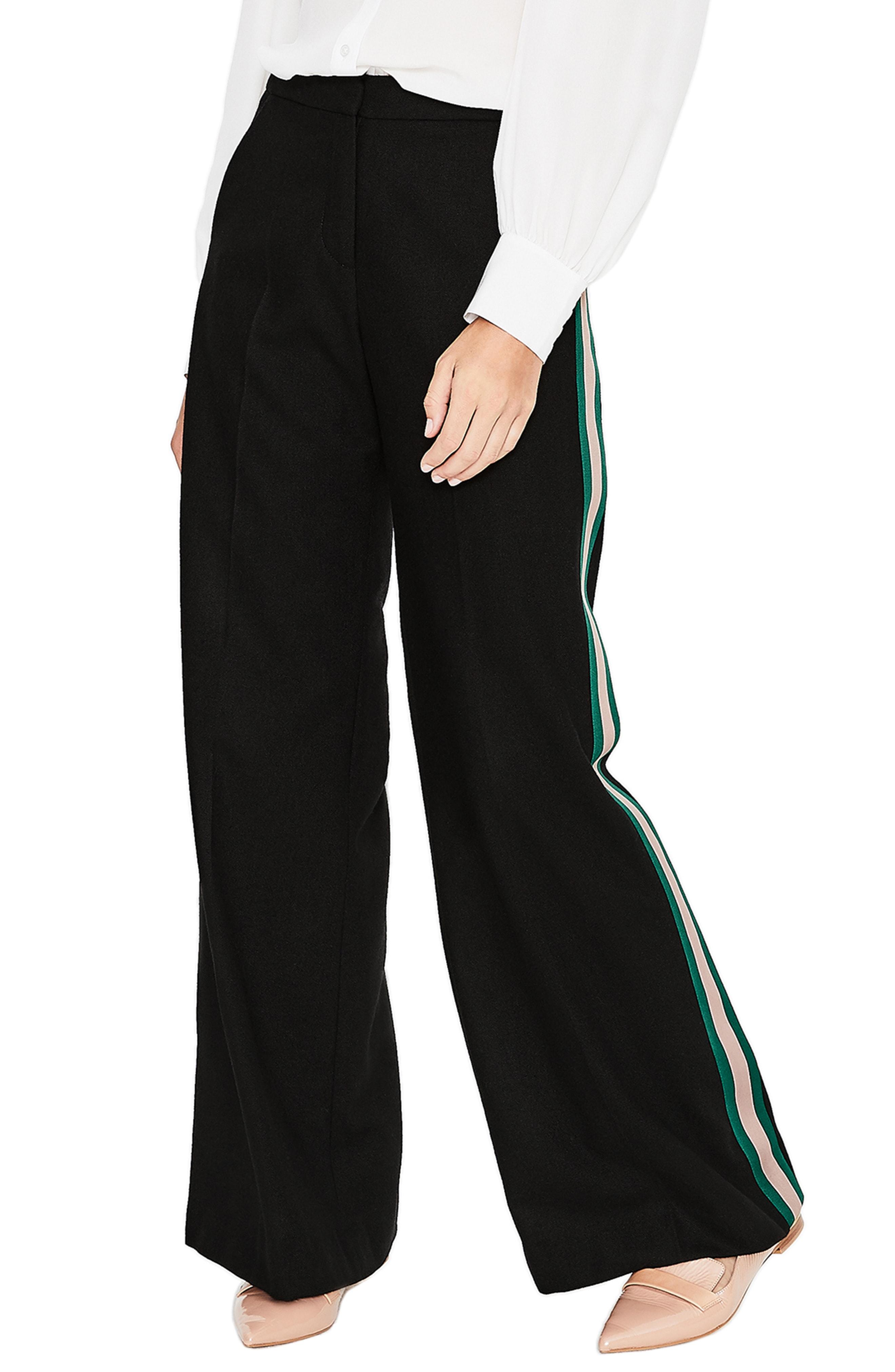 Boden Sherborne Side Stripe Wool Blend Pants