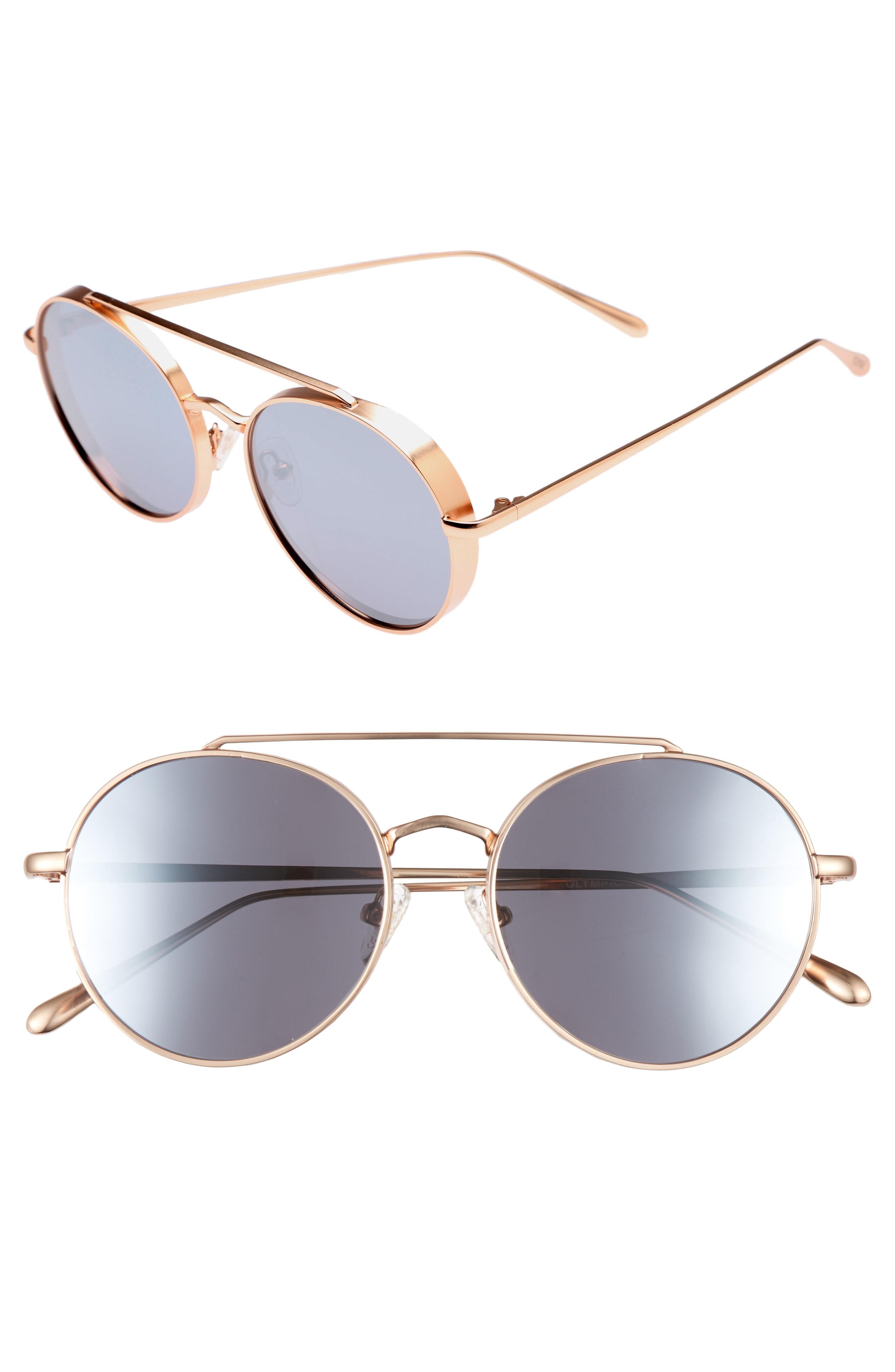 Bonnie Clyde Olympic 53mm Polarized Aviator Sunglasses