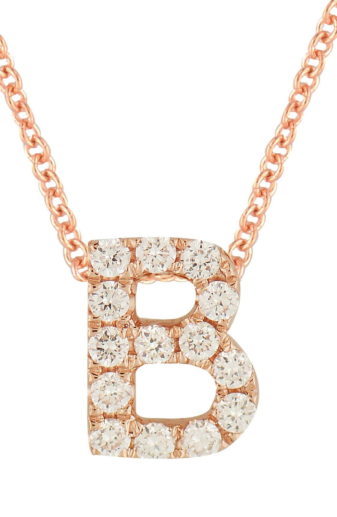 Bony Levy 18k Gold Pav Diamond Initial Pendant Necklace (Nordstrom Exclusive)