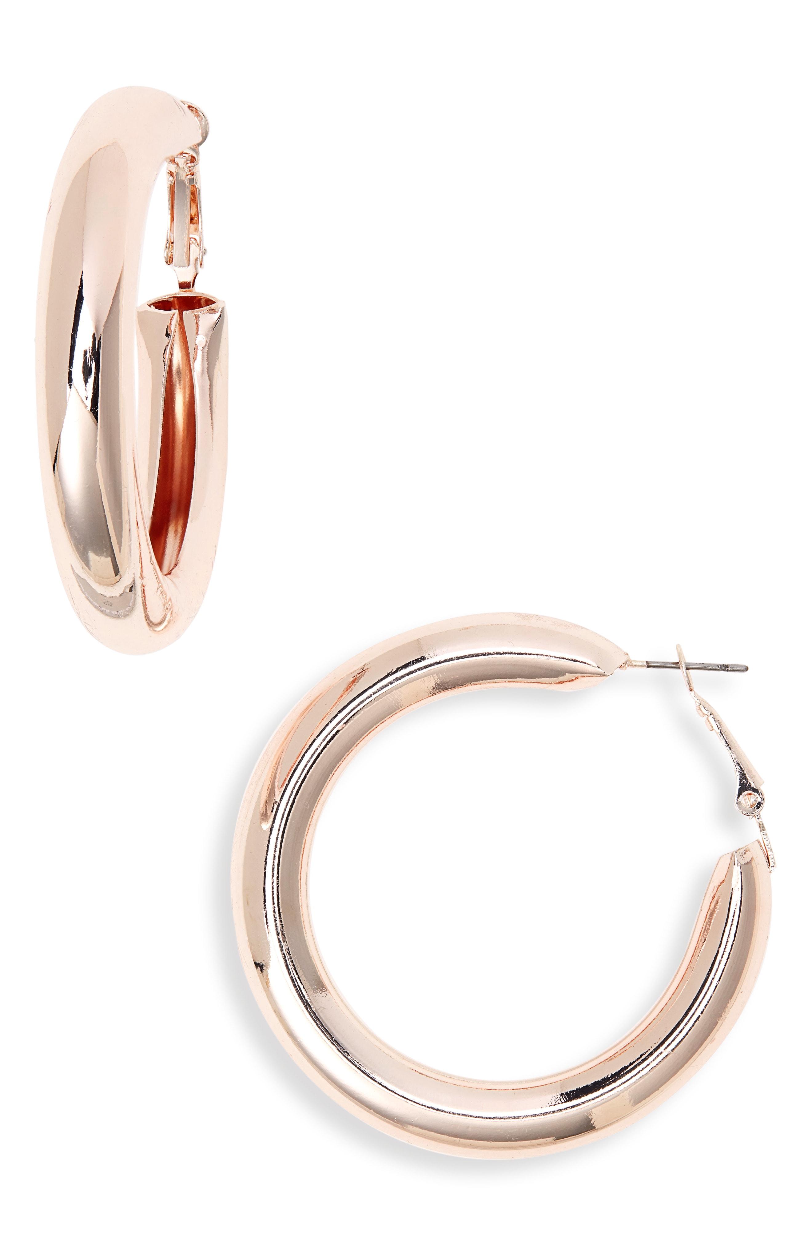 BP. Tube Hoop Earrings