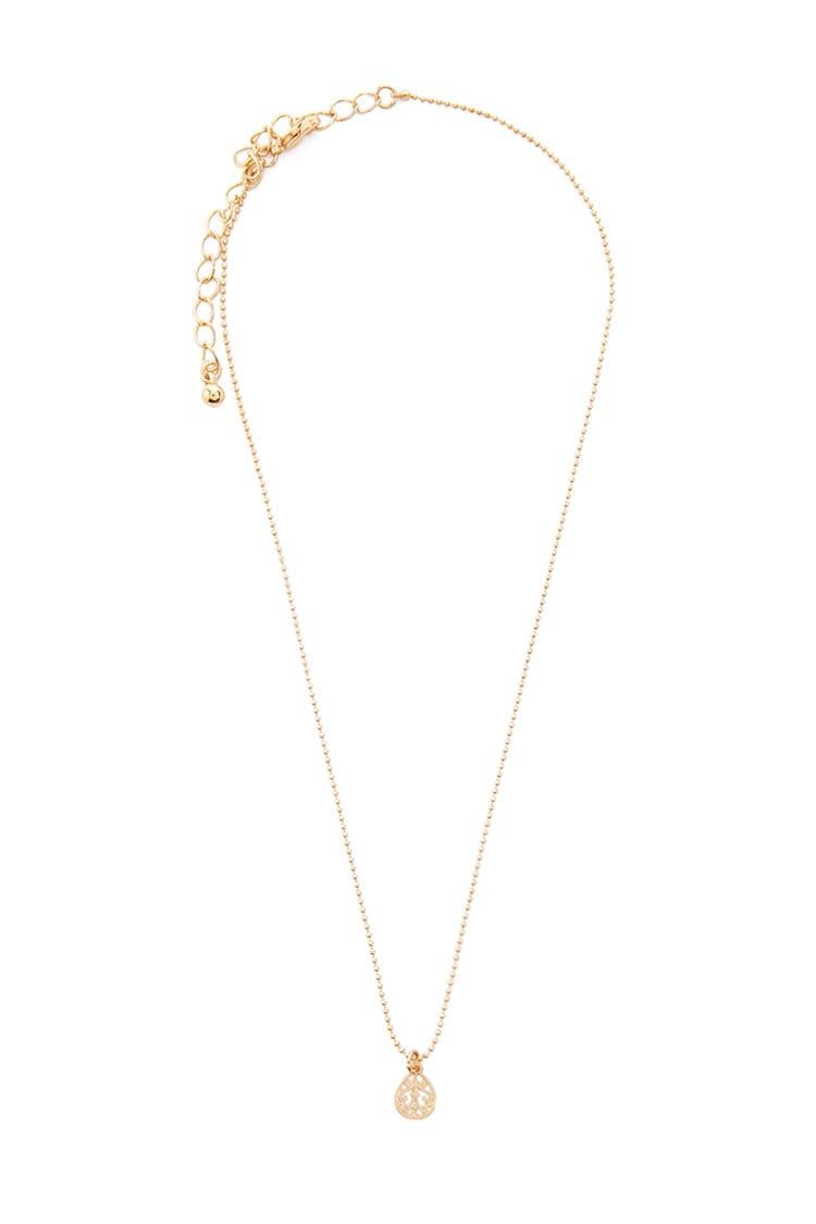 F21 Brocade Charm Necklace